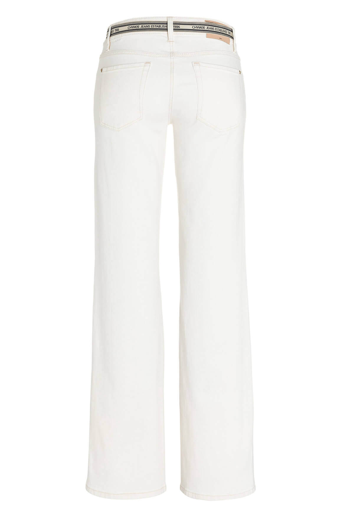 Cambio Dames Tess flared broek wit