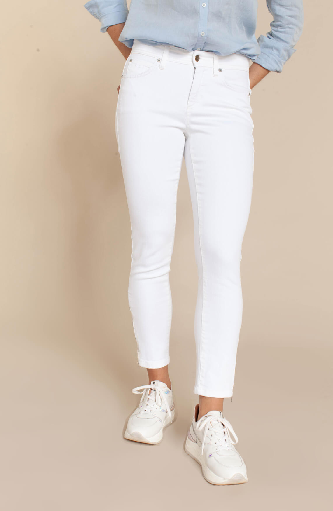 Cambio Dames Parla jeans wit