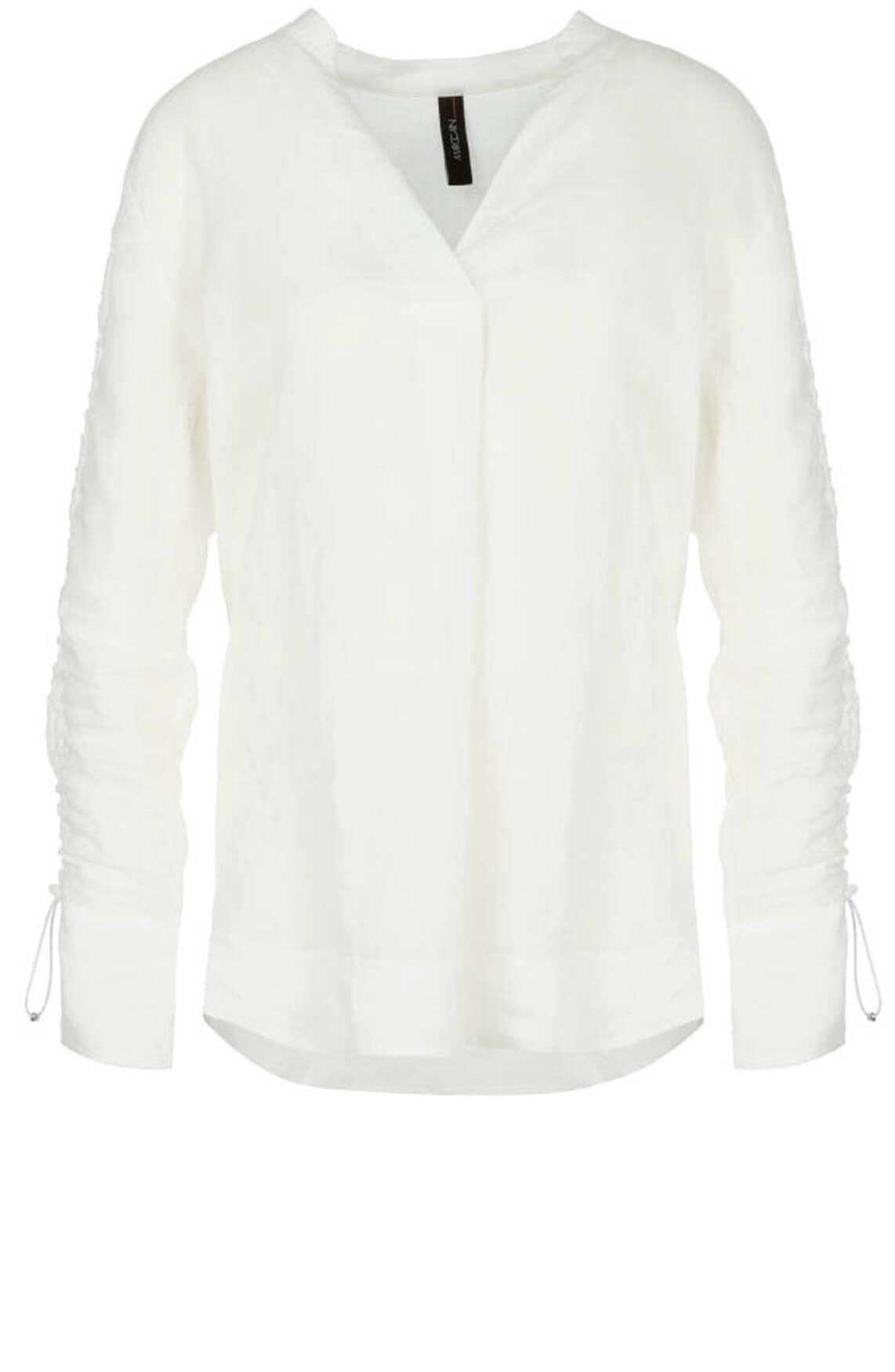 Marccain Sports Dames Lange linnen blouse wit
