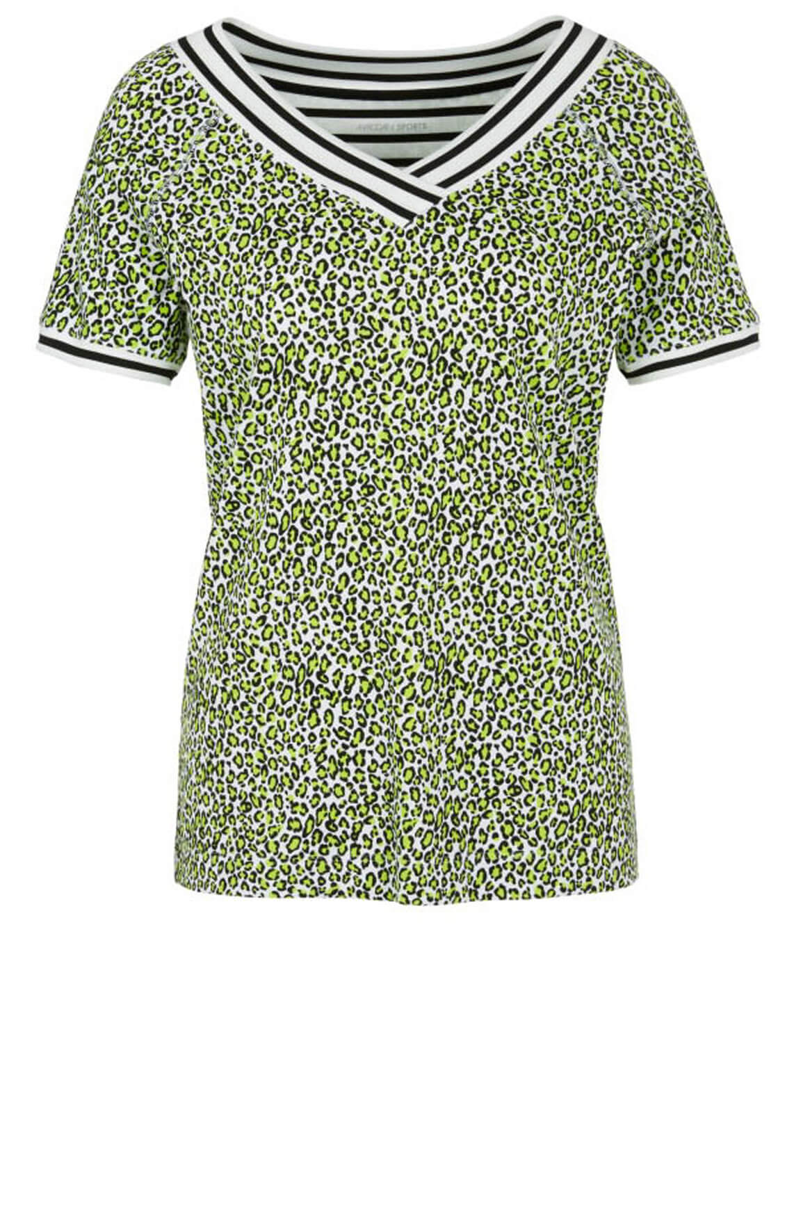 Marccain Sports Dames Animalprint shirt groen