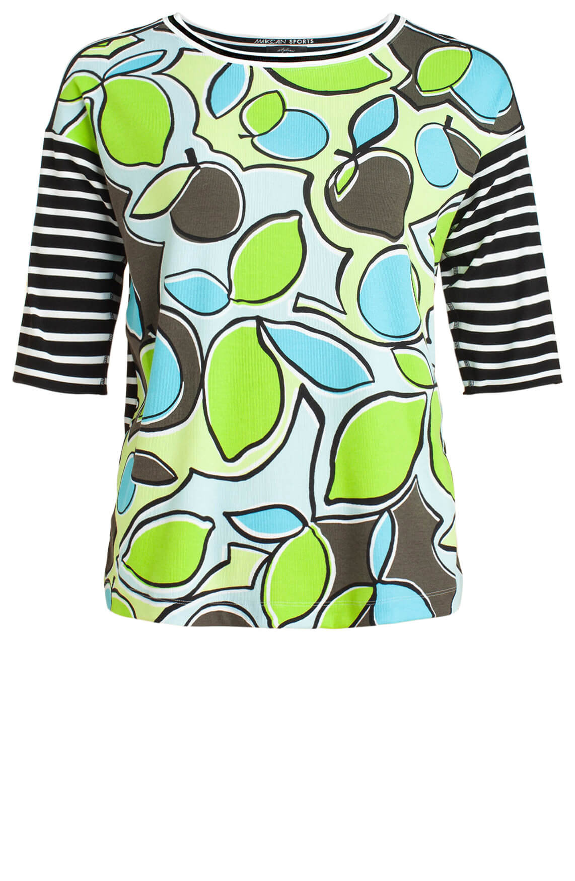 Marccain Sports Dames Citroenprint shirt groen
