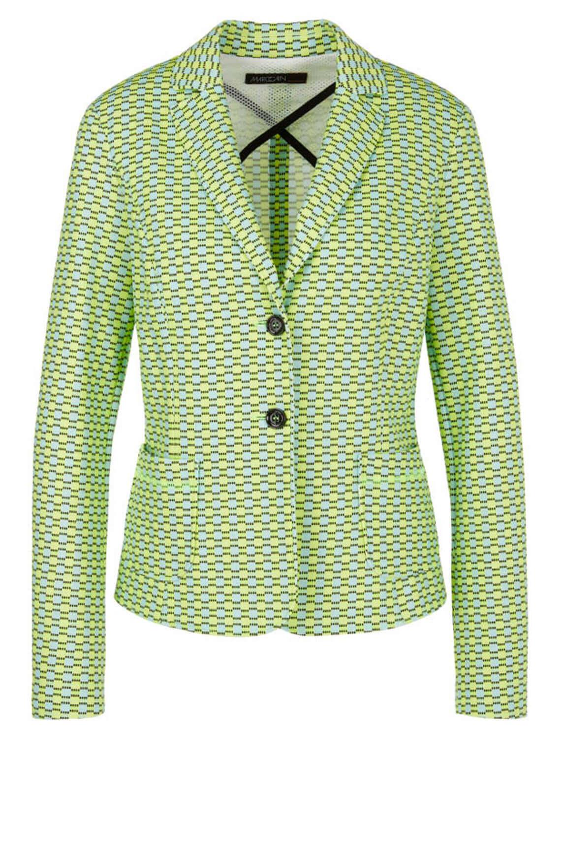 Marccain Sports Dames Blazer met print groen