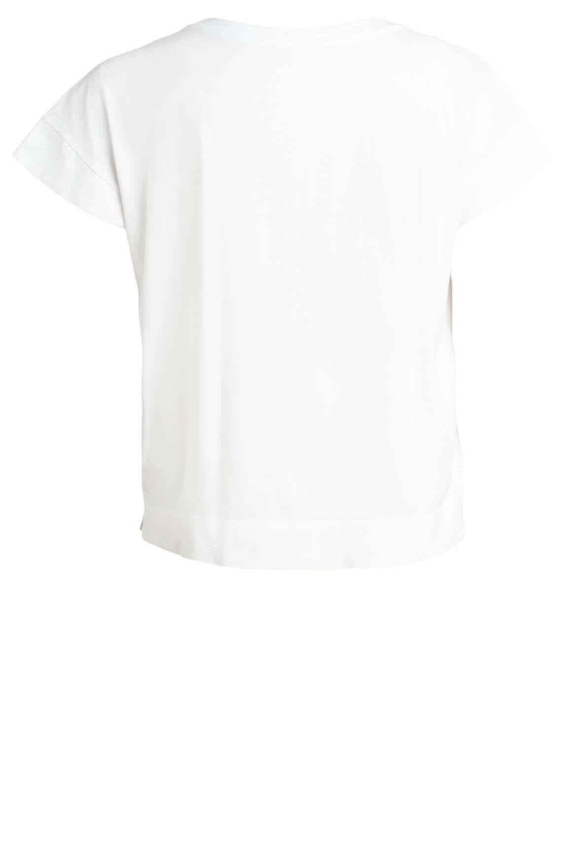 Marccain Sports Dames Shirt met tekst print wit