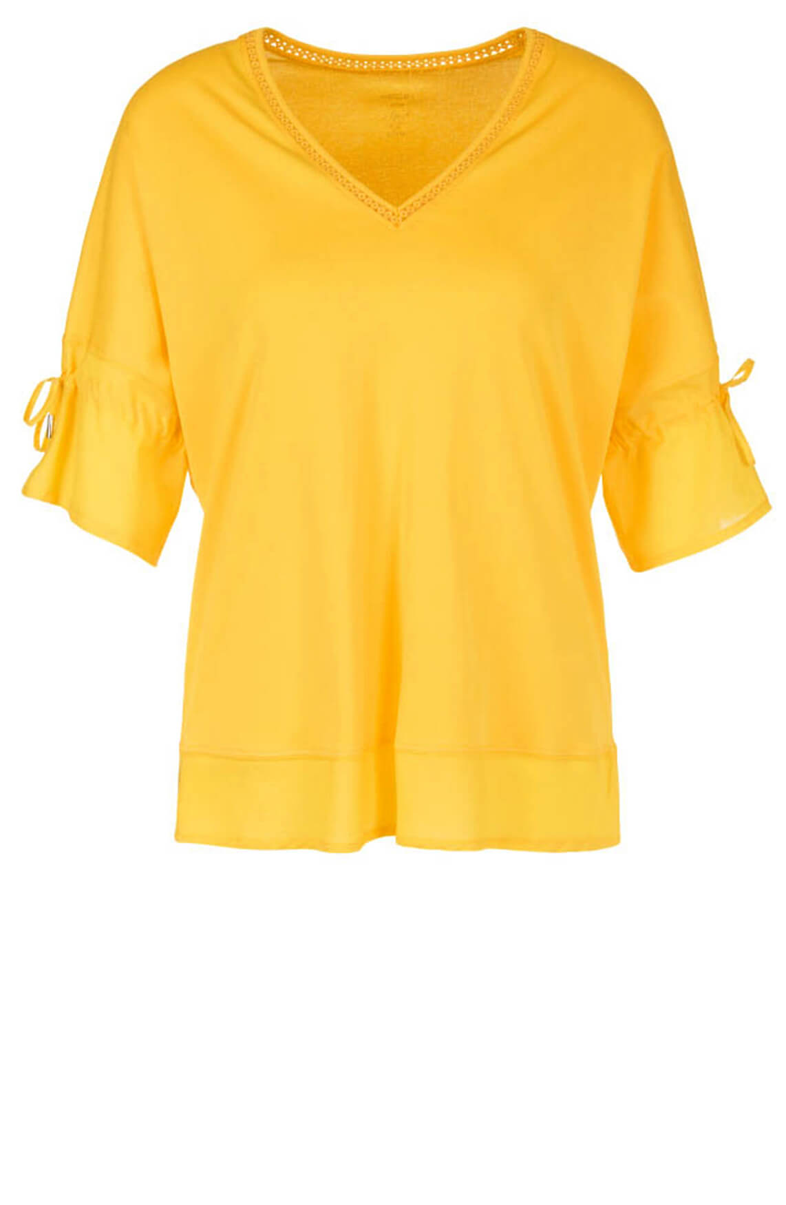 Marccain Dames Shirt met borduursel geel