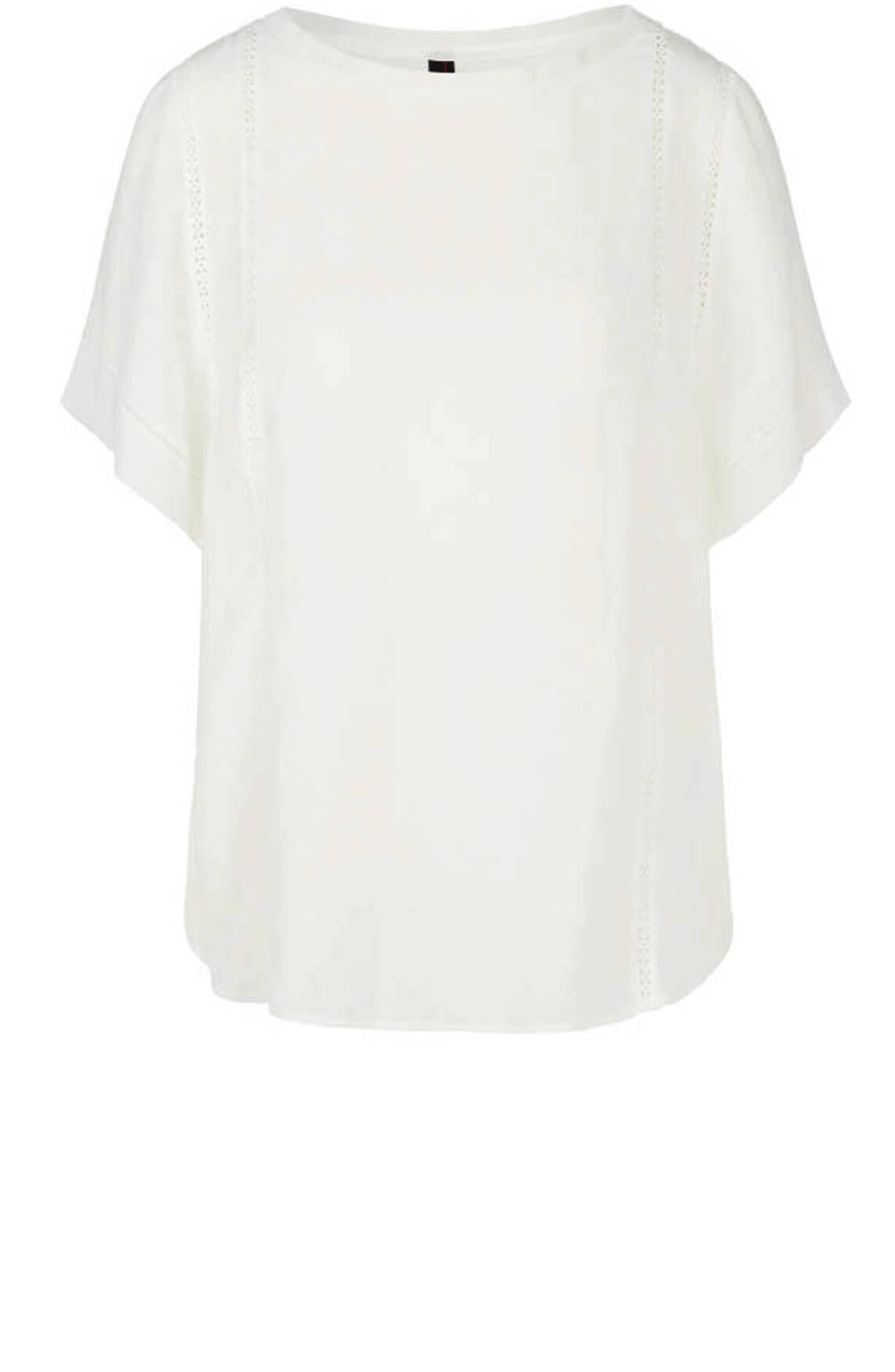 Marccain Dames Blouseshirt met kant wit