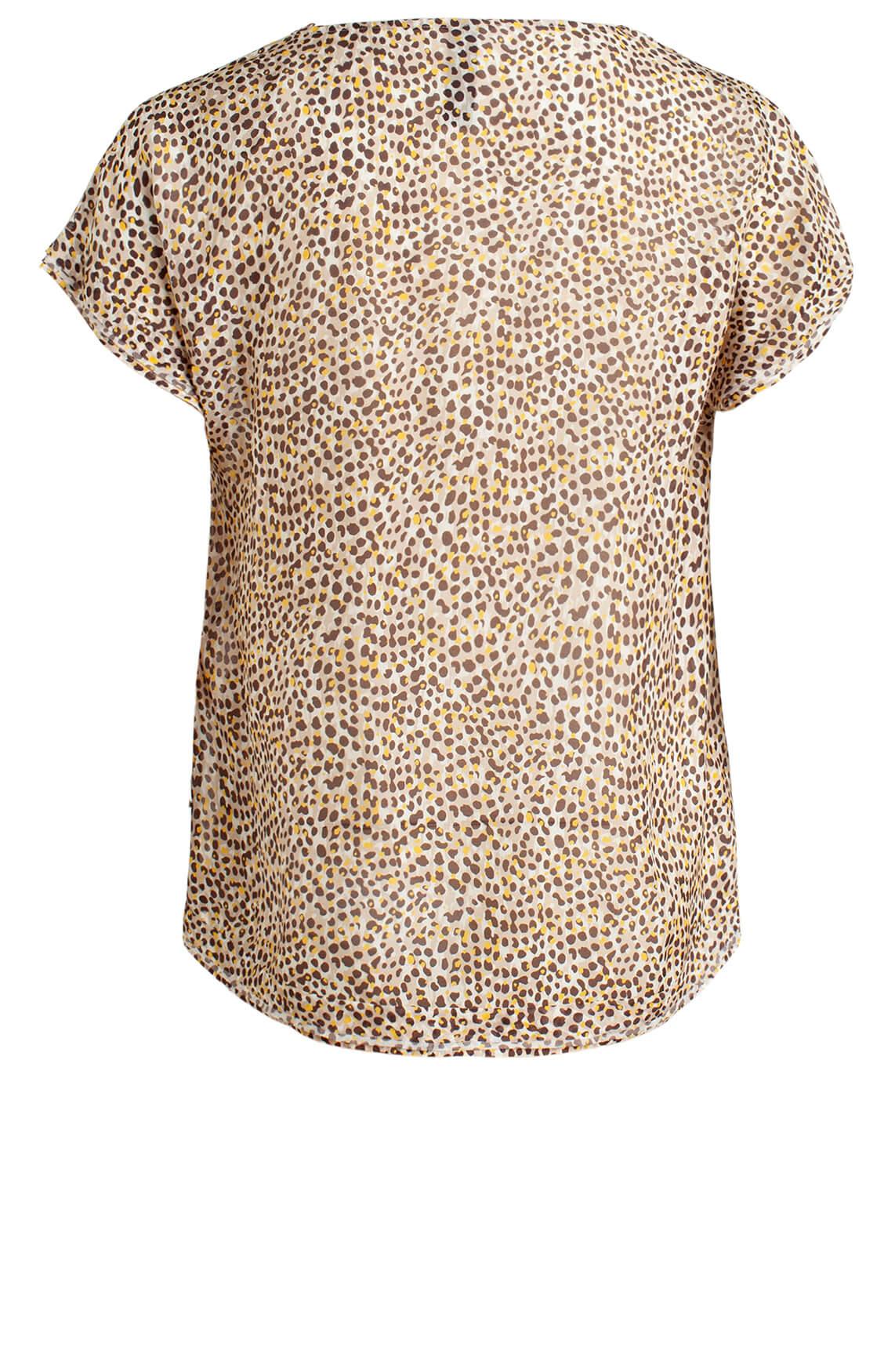 Marccain Dames Zijden blouseshirt Bruin