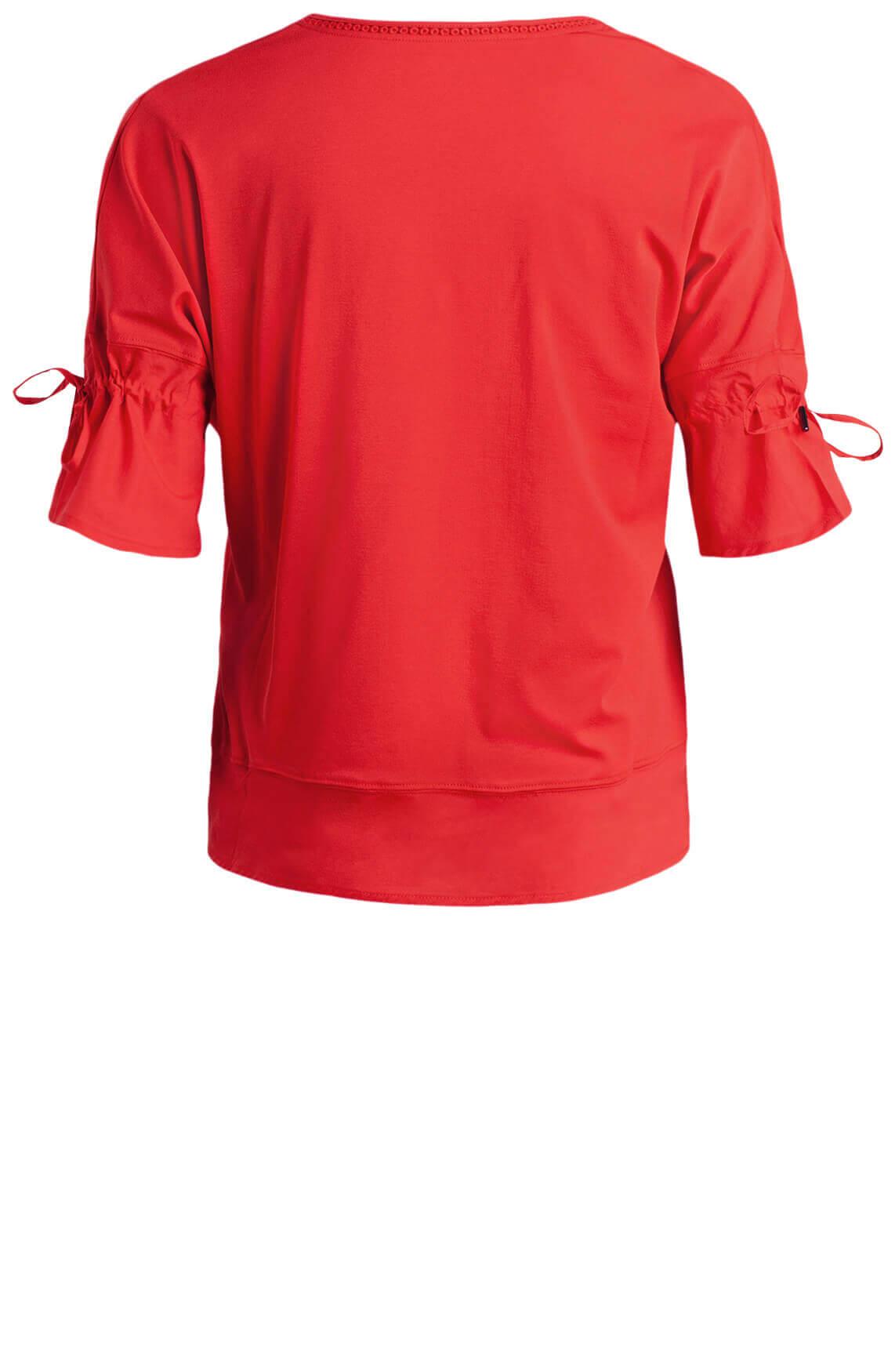 Marccain Dames Shirt met borduursel Rood