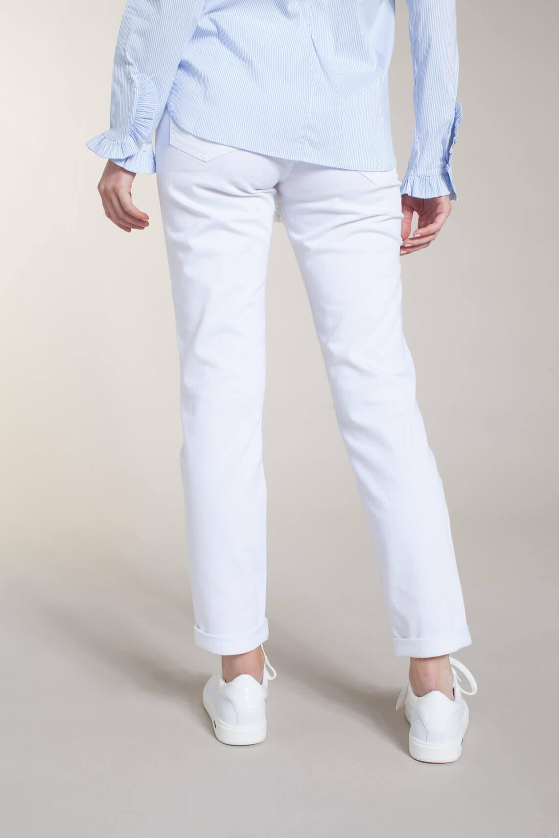 Rosner Dames Masha broek met ceintuur wit