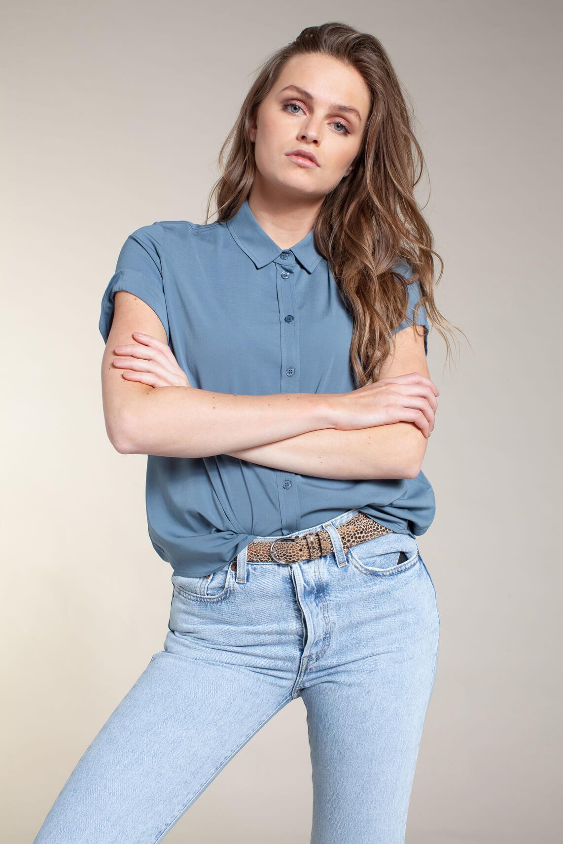 Samsoe Samsoe Dames Majan blouse Blauw