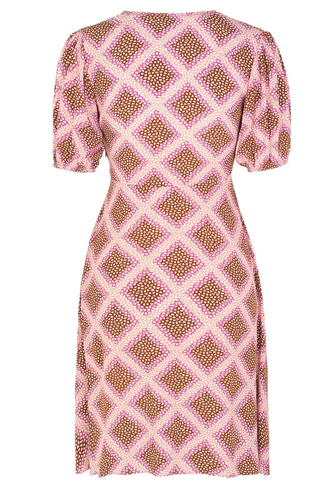 Samsoe Samsoe Dames Petunia jurk roze