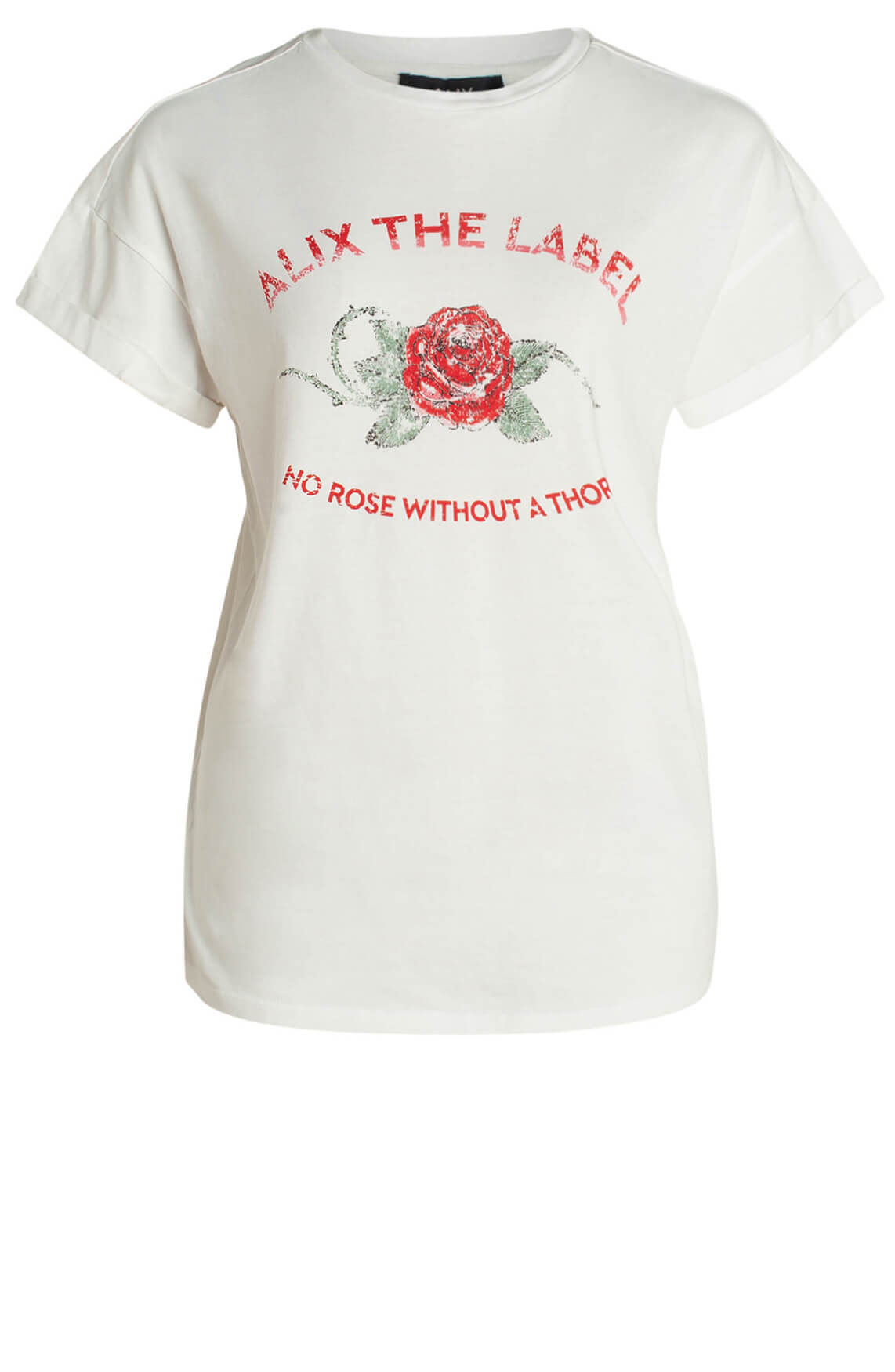 Alix The Label Dames Vintage rose shirt wit