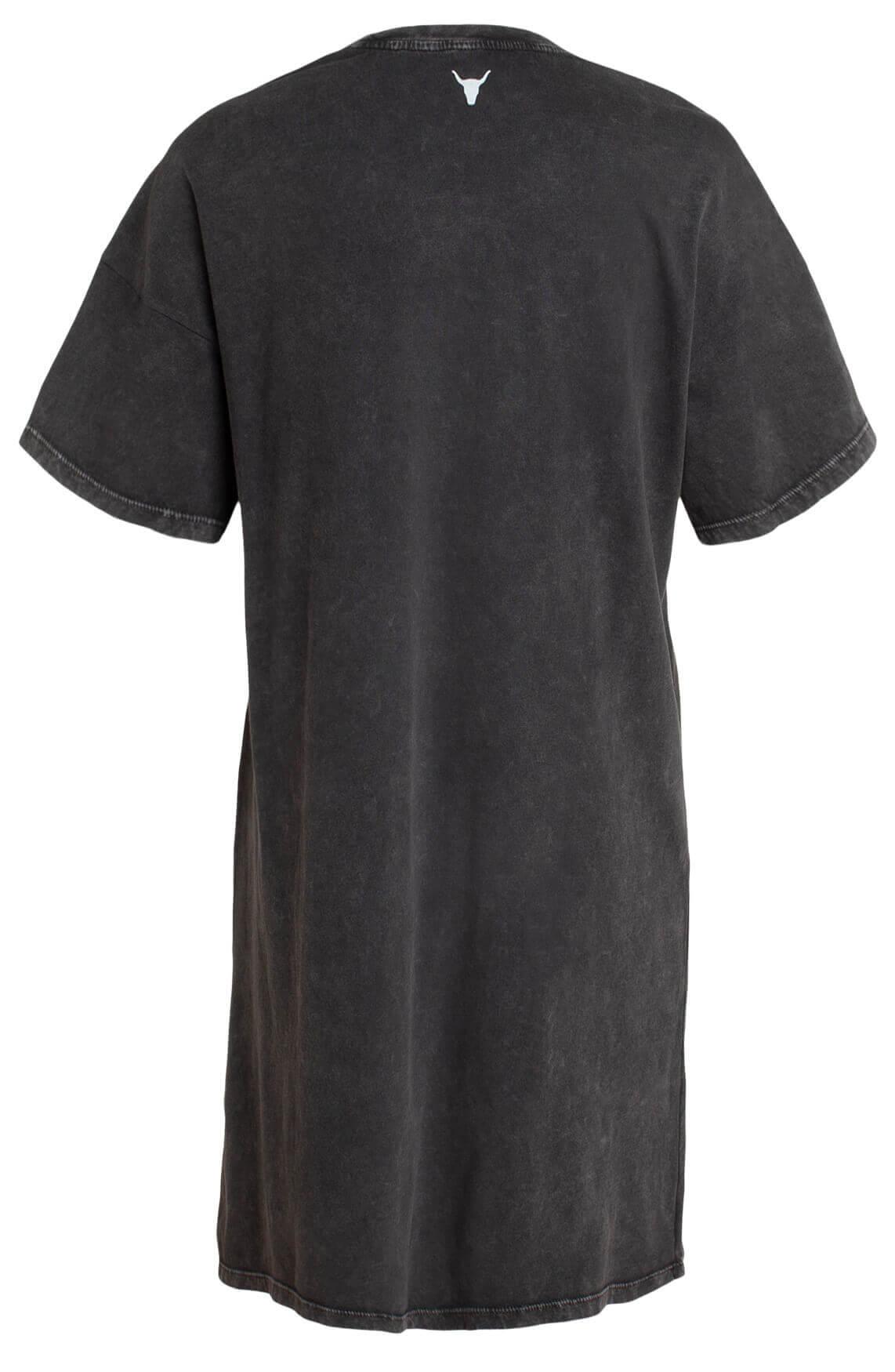 Alix The Label Dames Lang shirt met artwork Grijs