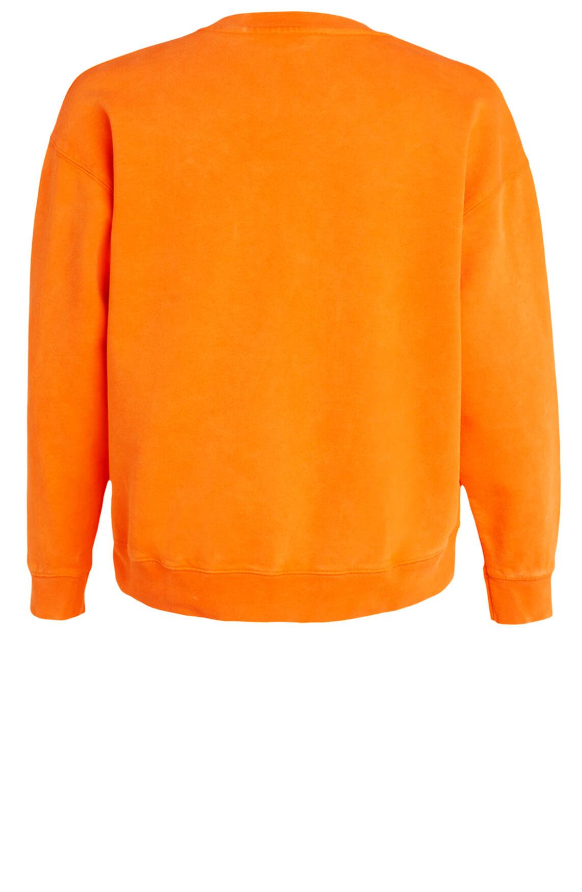 Alix The Label Dames Sweater met borduursel Oranje