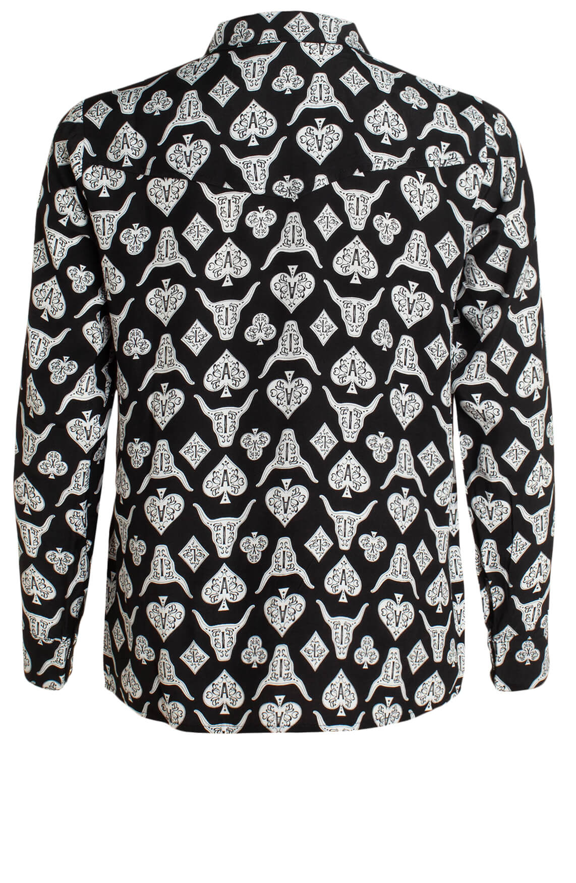 Alix The Label Dames Playing cards blouse zwart