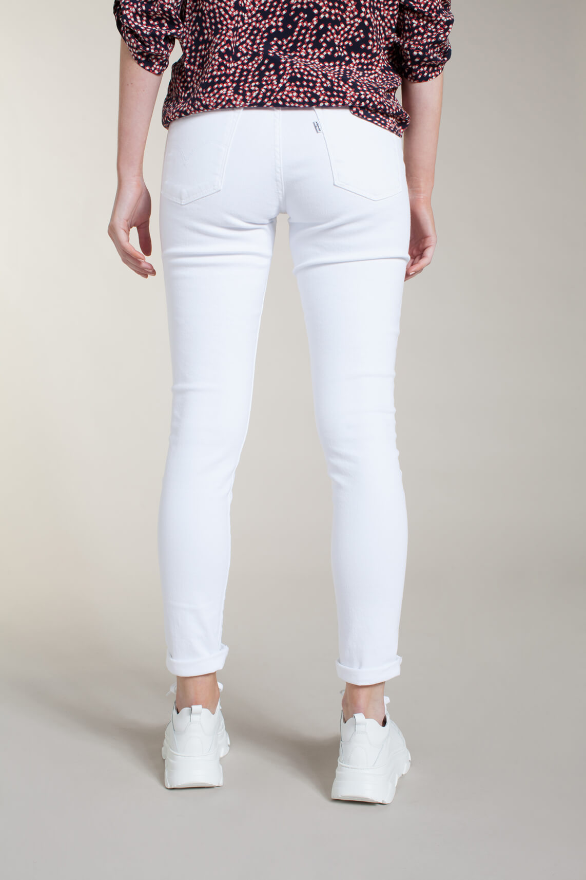 Levi s Dames 311 L30 shaping skinny jeans wit