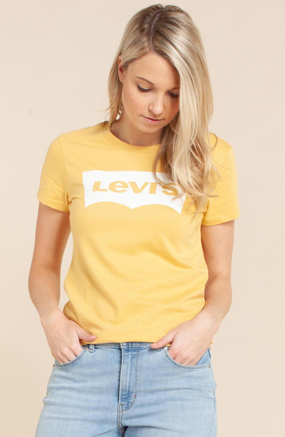 Levi s Dames Shirt met logo opdruk geel