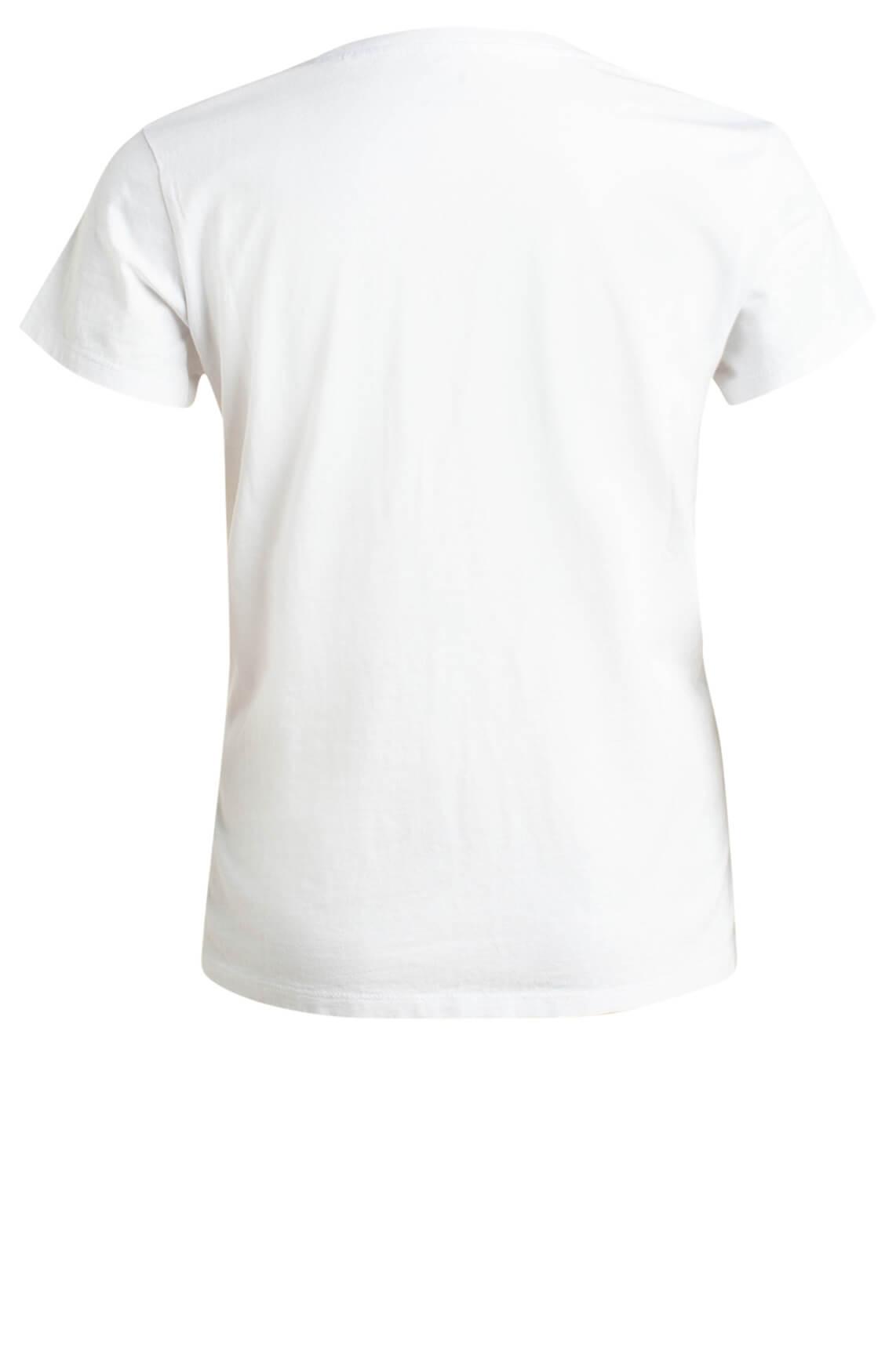 Levi s Dames Shirt met tekst opdruk wit