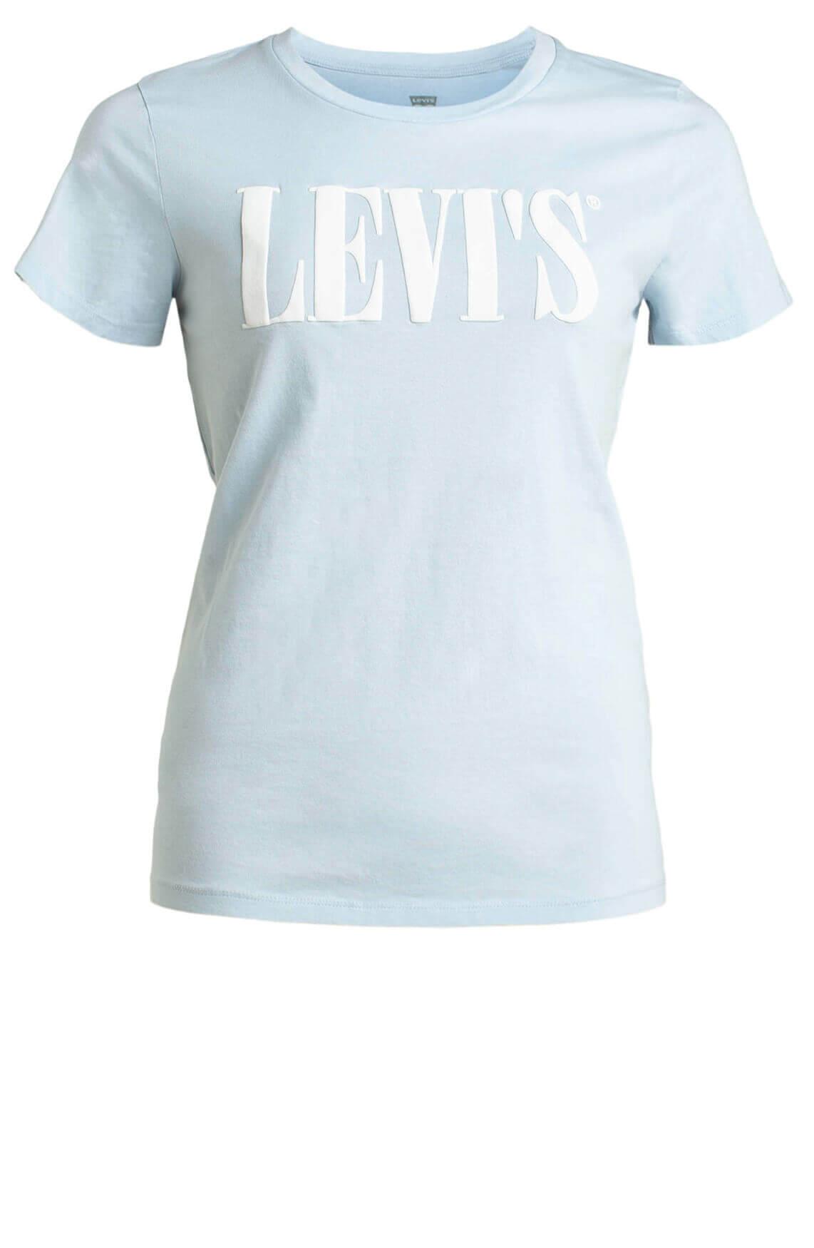 Levi s Dames Shirt met tekst opdruk Blauw