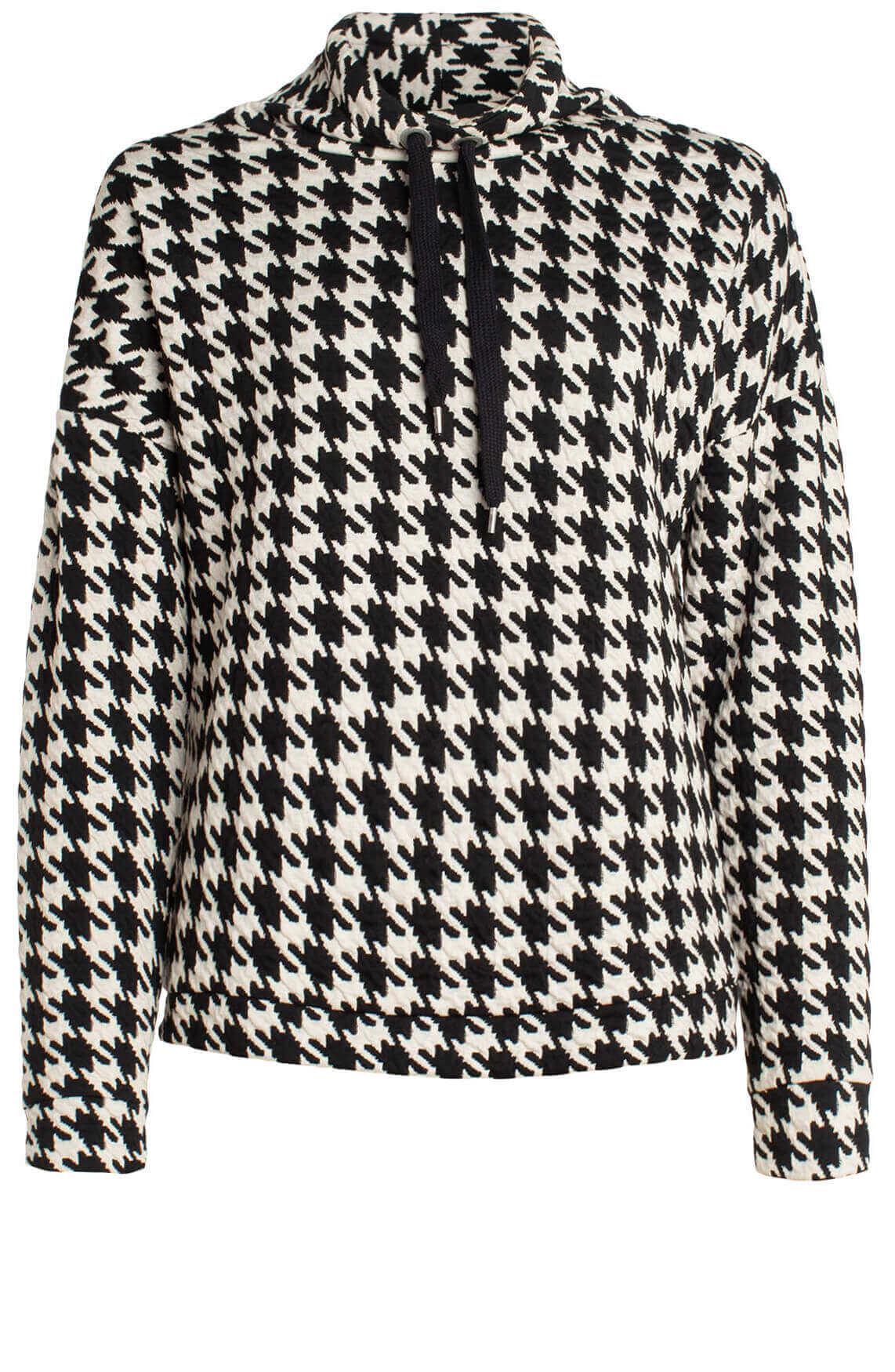 Anna Dames Pied-de-coq sweater zwart