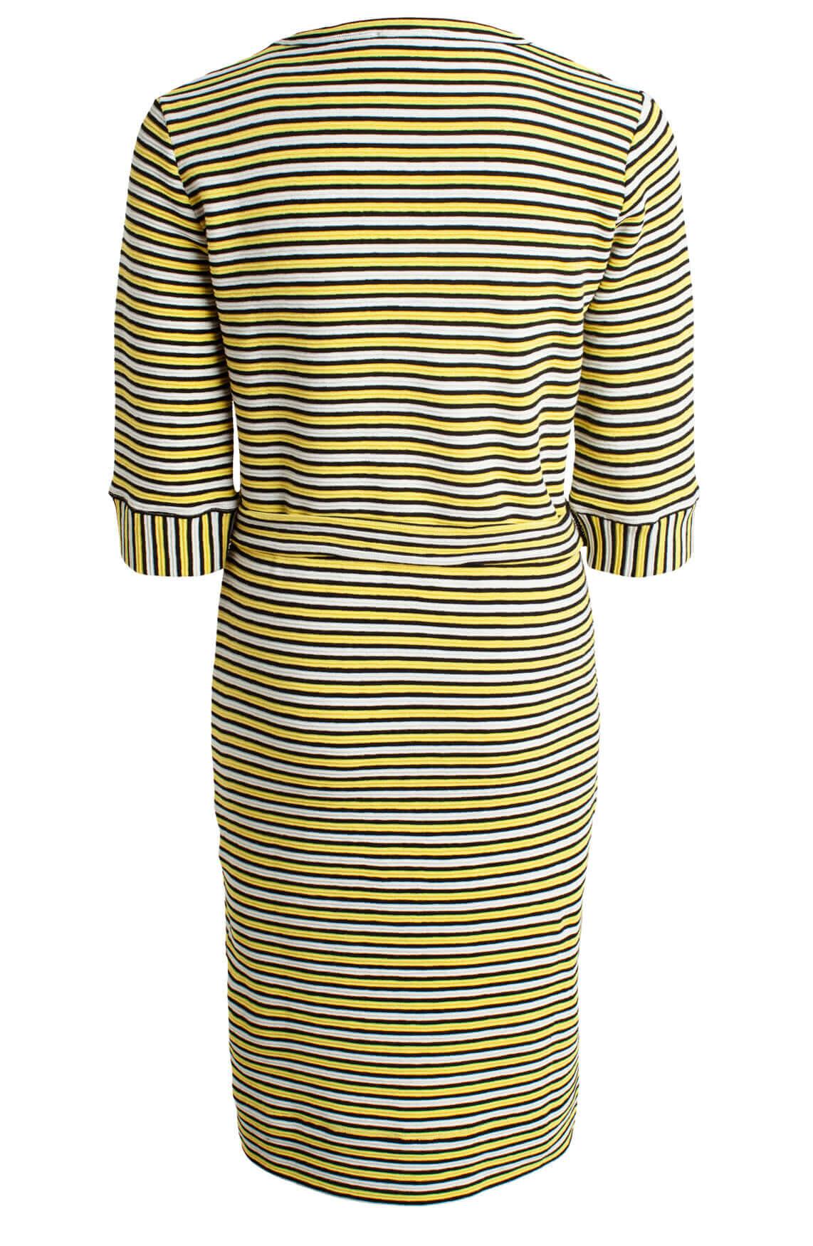 Anna Dames Gestreepte jurk geel