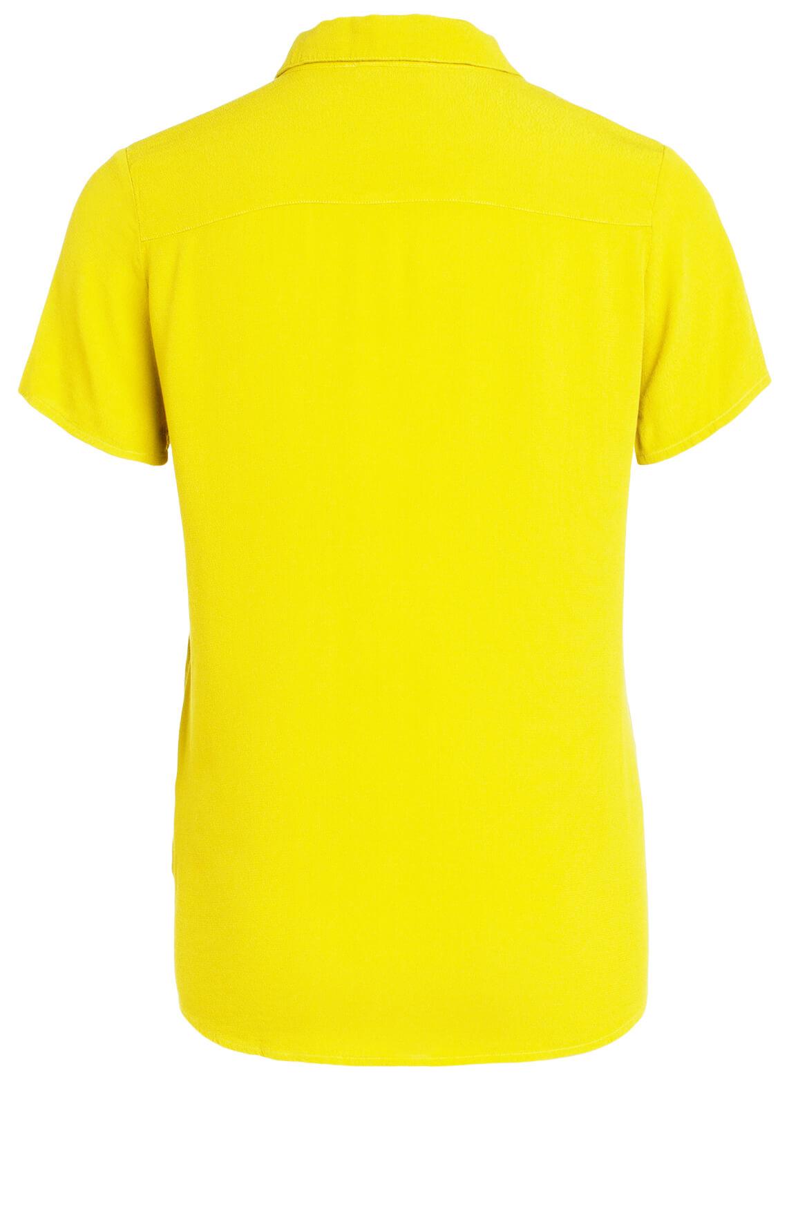 Anna Dames Blouse met korte mouw geel