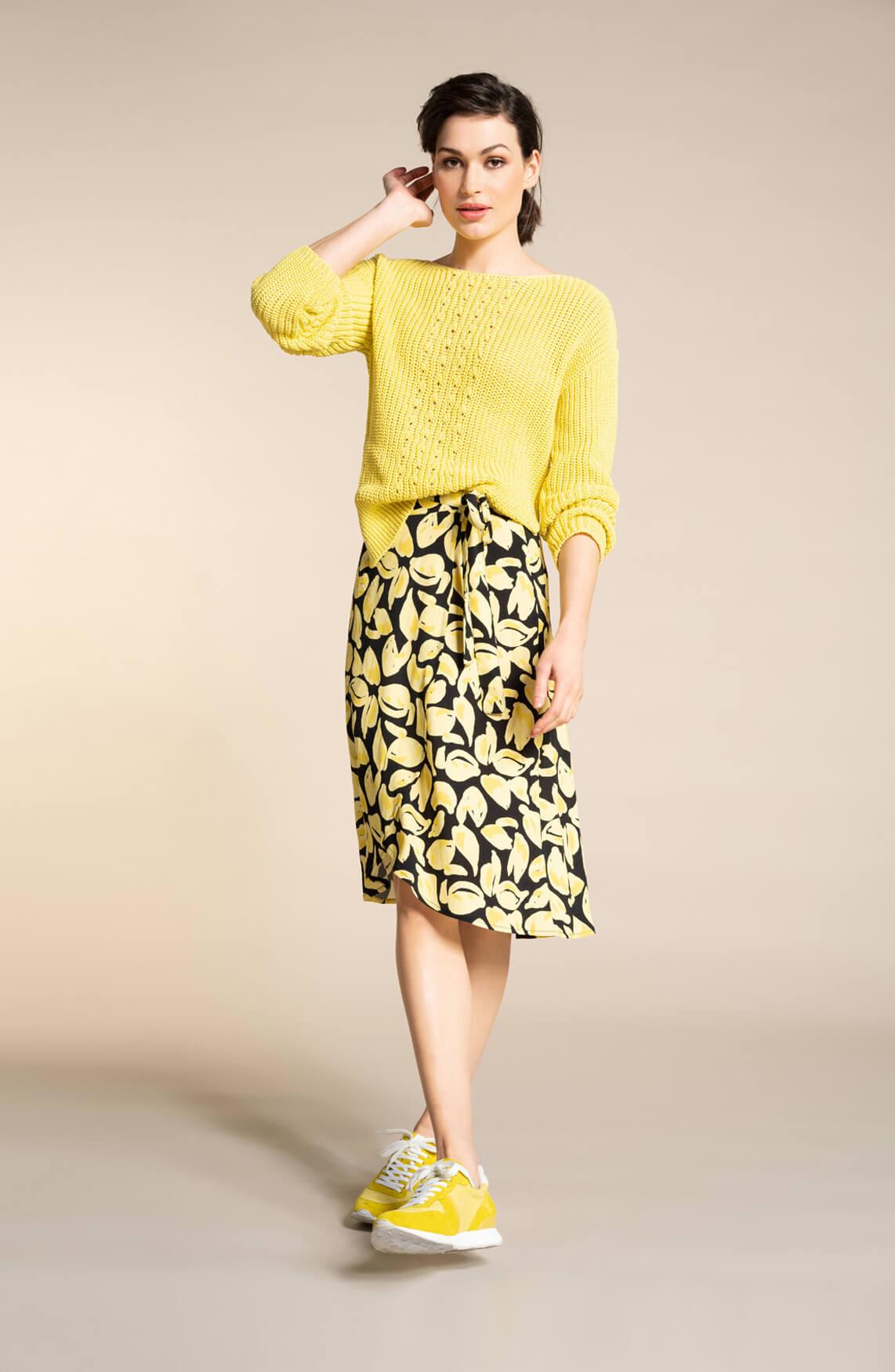 Anna Dames Gebreide trui geel