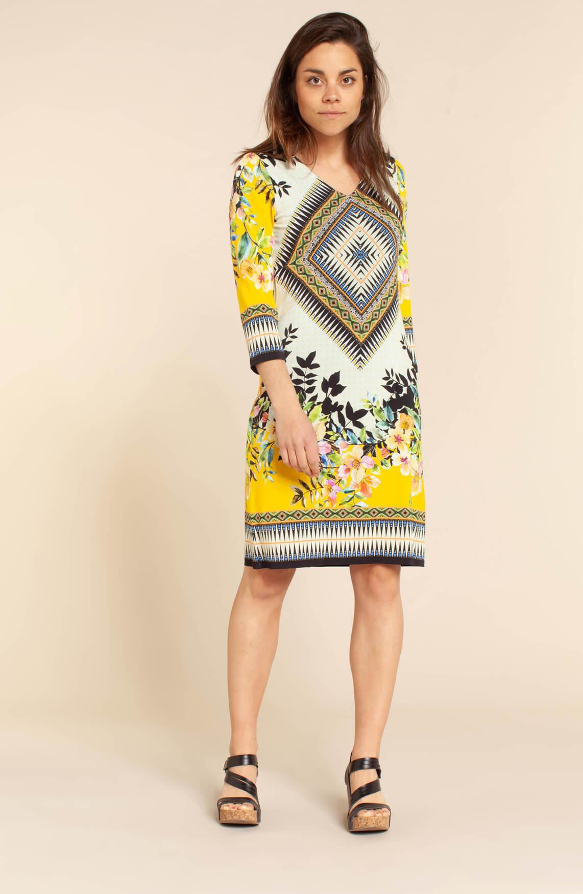 Ana Alcazar Dames Zippy jurk geel