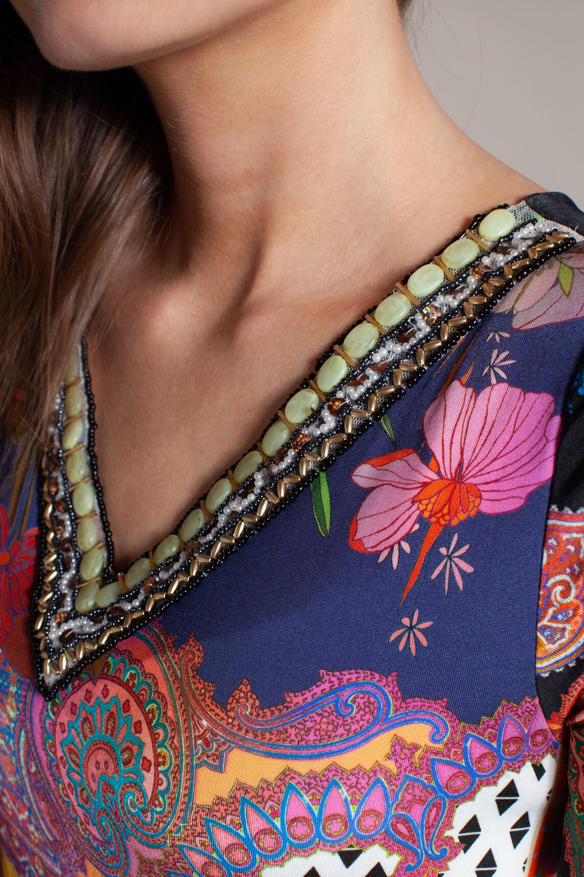 Ana Alcazar Dames Zioly patchwork jurk zwart