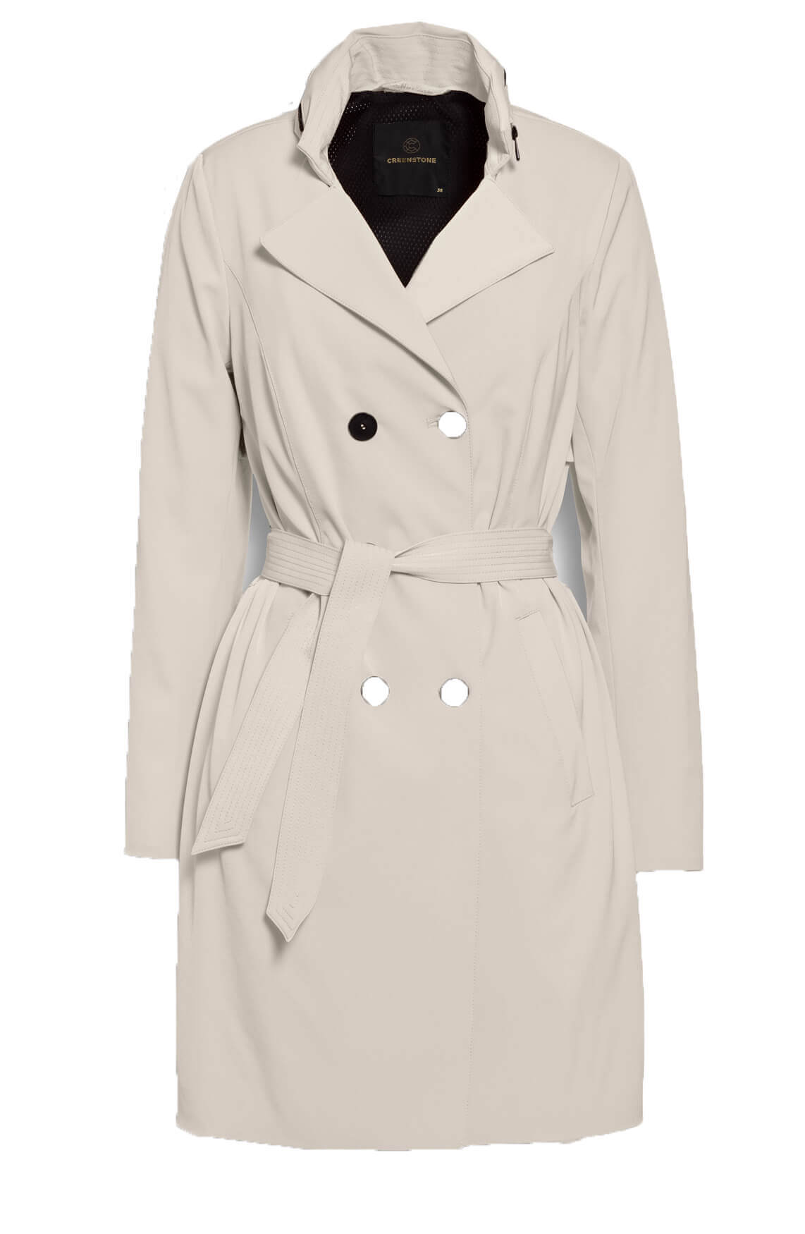 Creenstone Dames Trenchcoat Ecru