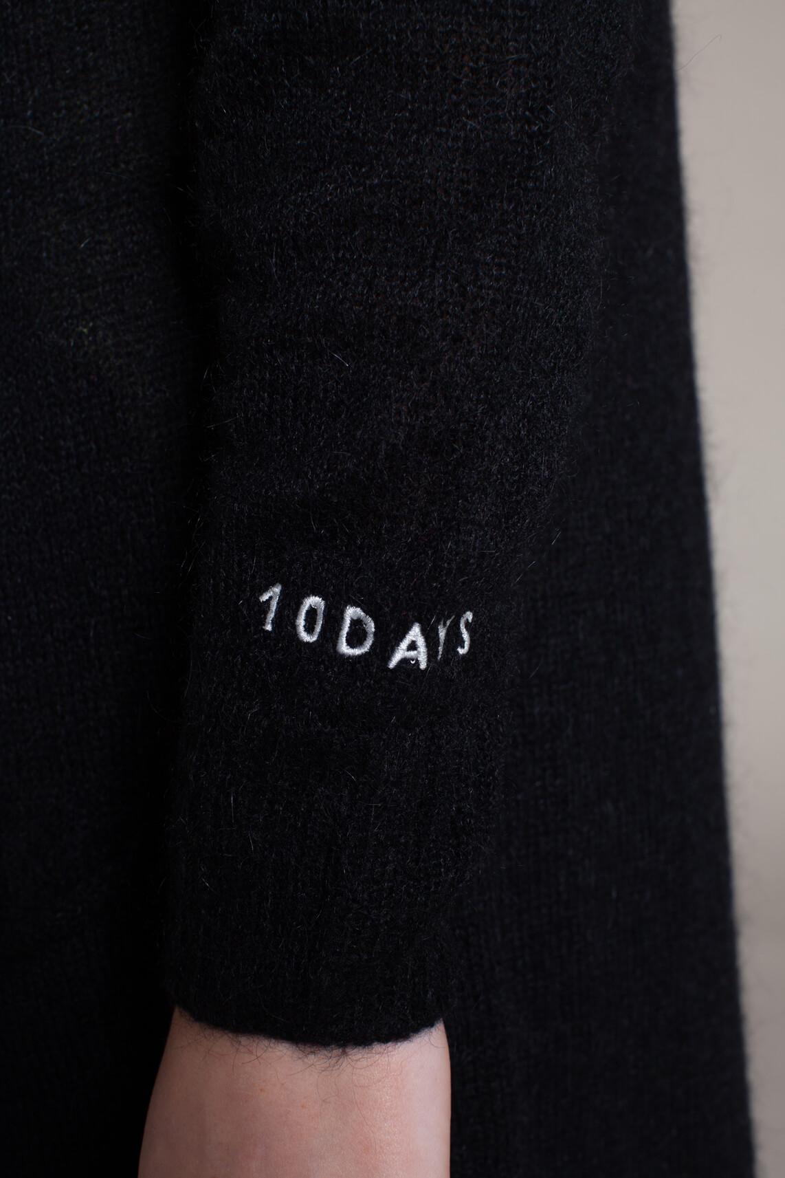 10 Days Dames Gebreid midi vest zwart