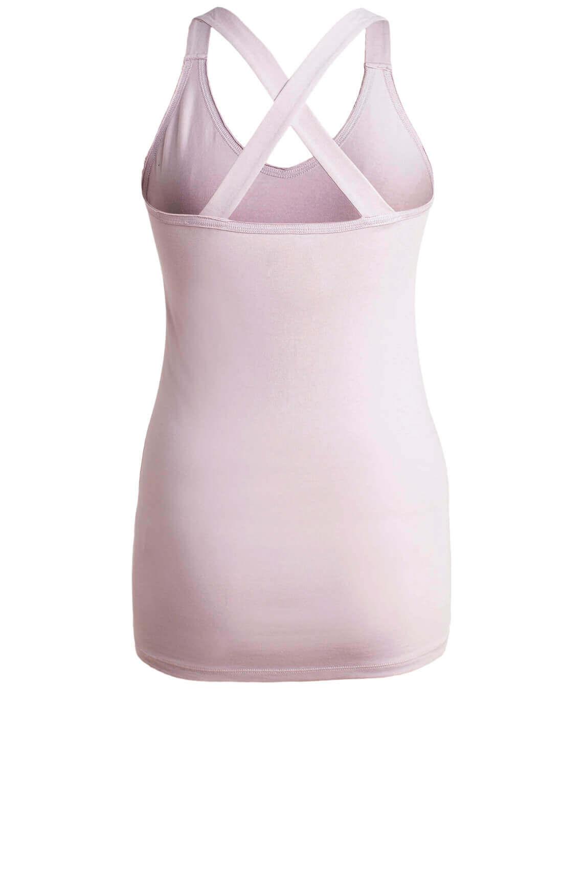 10 Days Dames Top met gekruiste bandjes roze