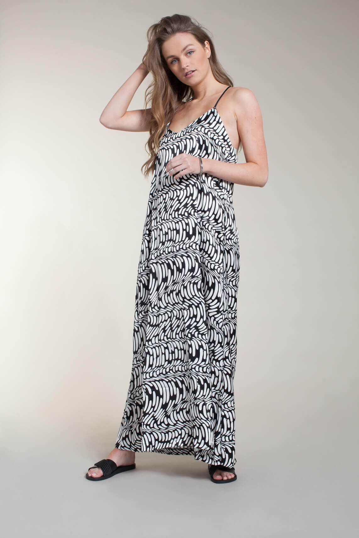 10 Days Dames Lange wave jurk zwart