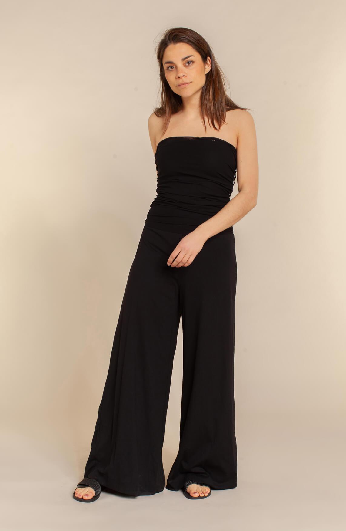 10 Days Dames Strapless jumpsuit zwart