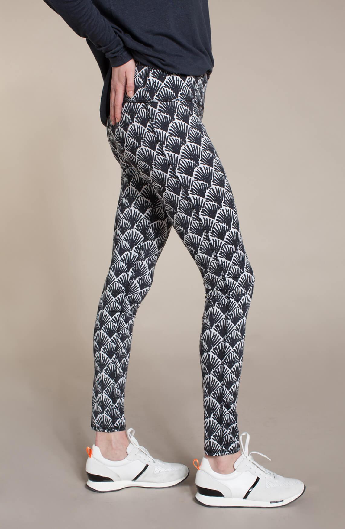 10 Days Dames Geprinte legging zwart