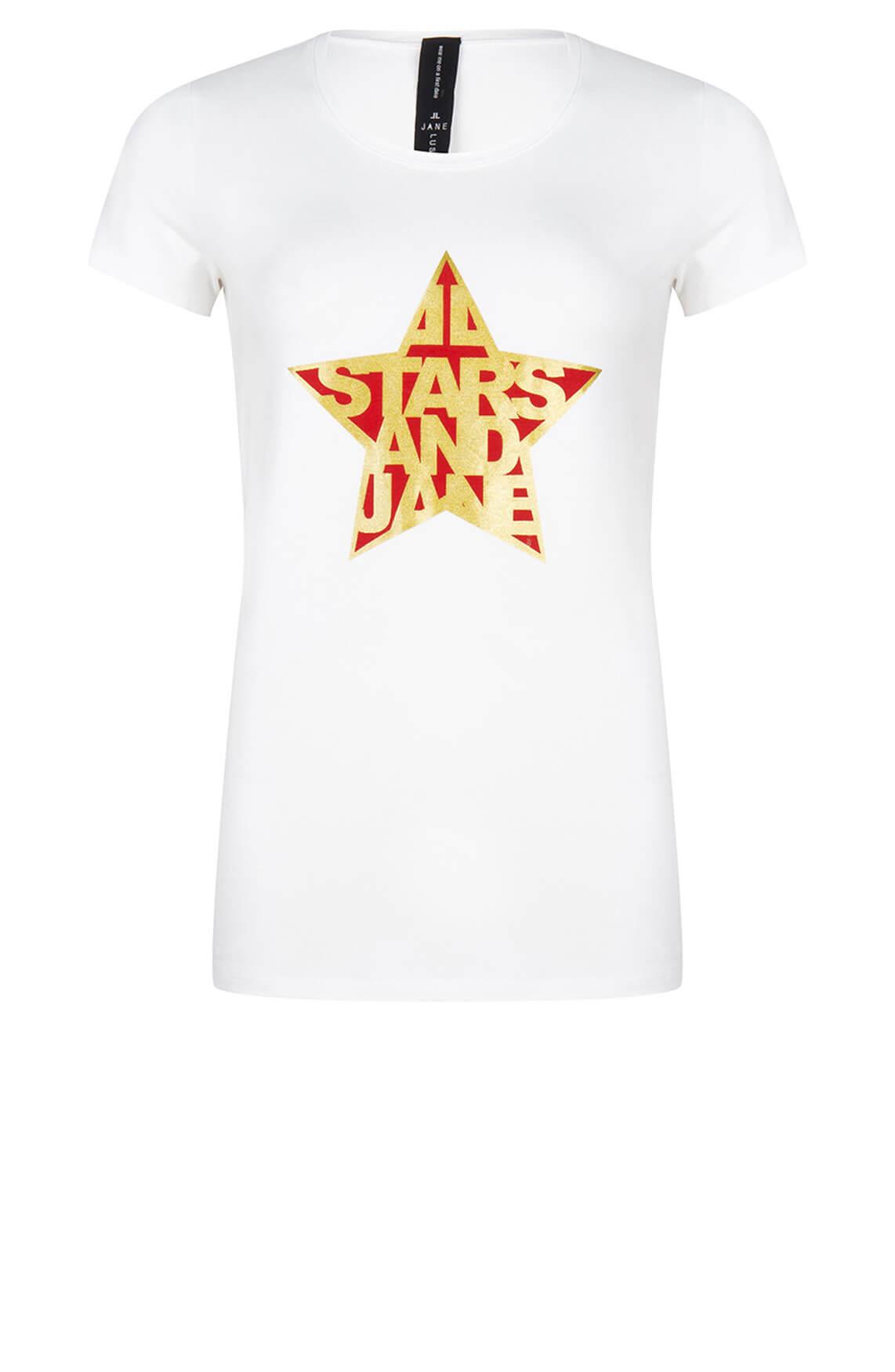 Jane Lushka Dames Frankie stars shirt wit