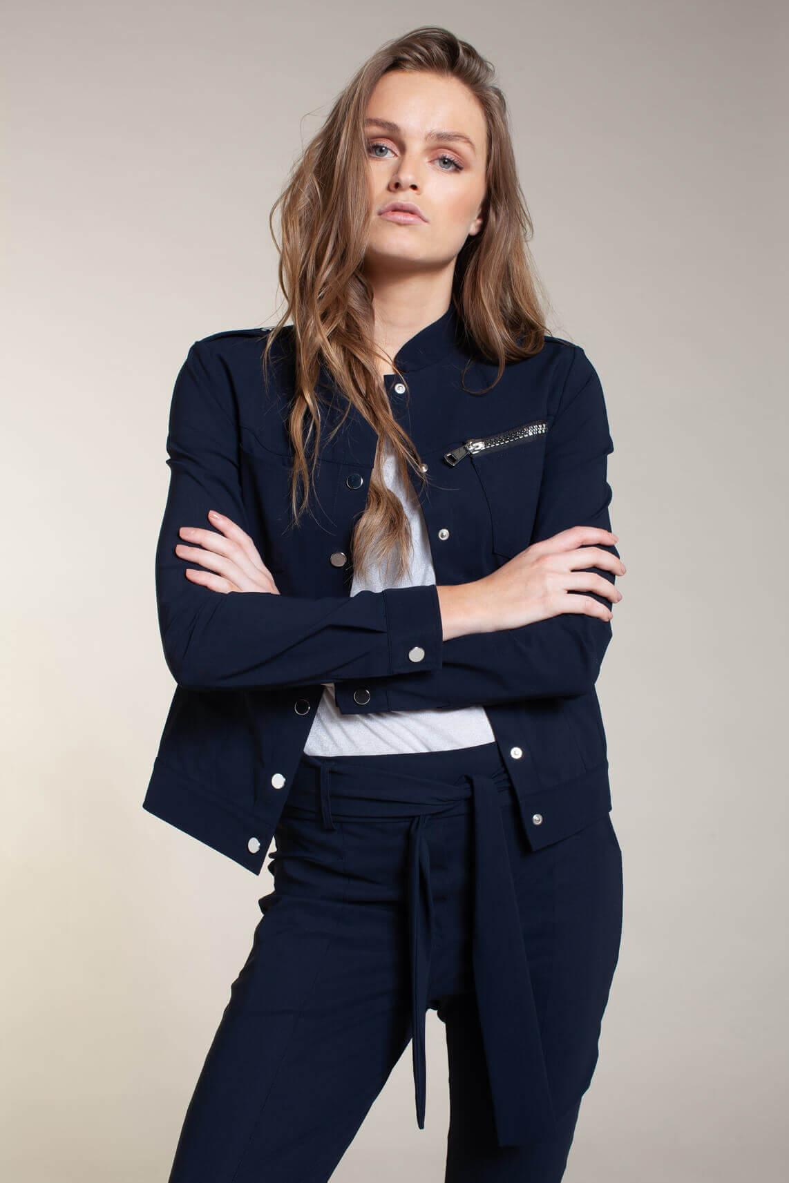 Jane Lushka Dames June worker jacket Blauw