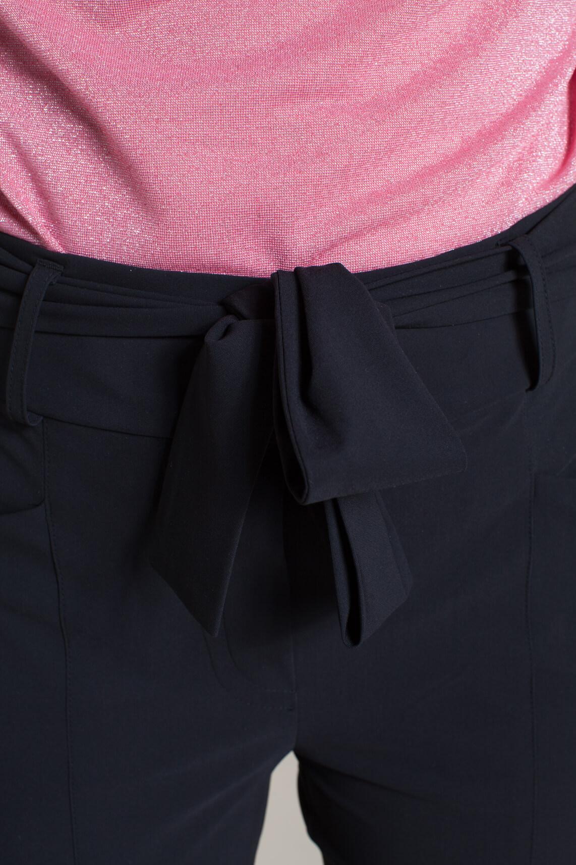 Jane Lushka Dames Vera broek met strik zwart