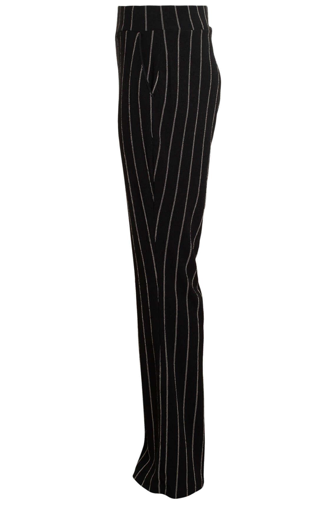 Flared broek met strepen