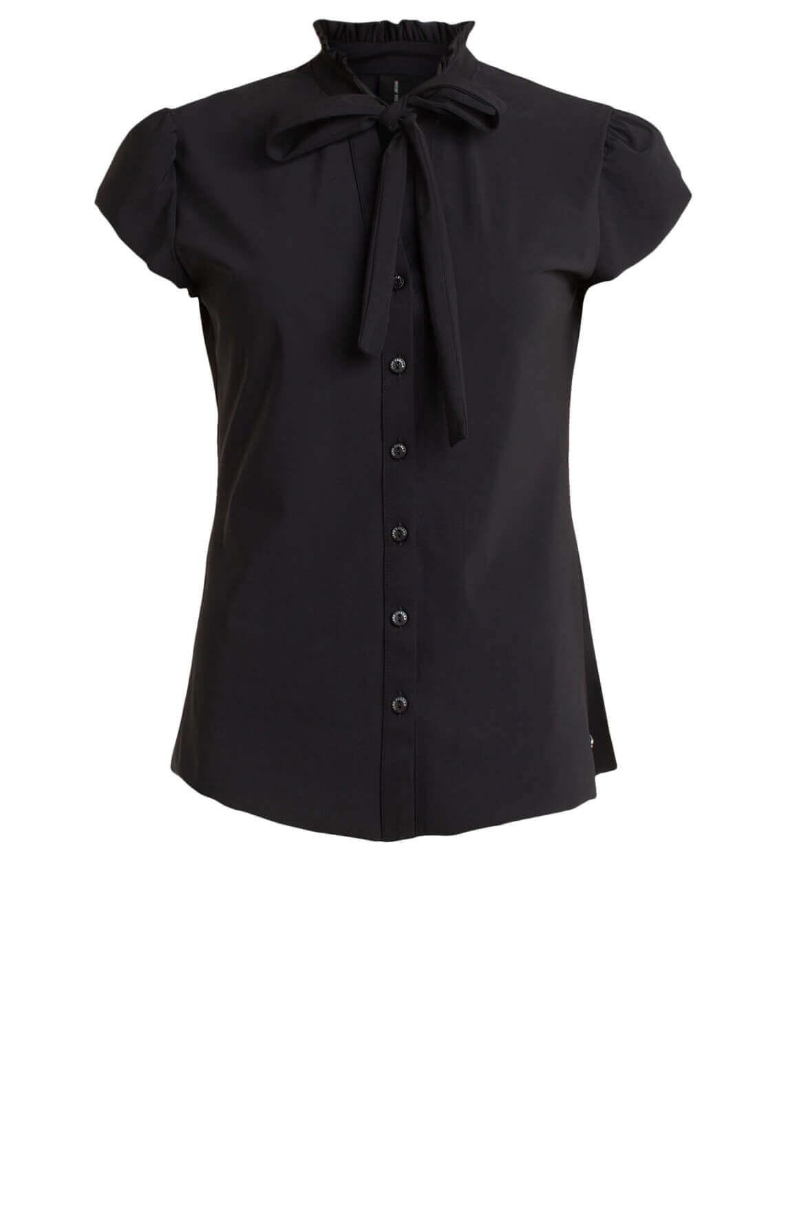 Jane Lushka Dames Tash blouse met strik zwart
