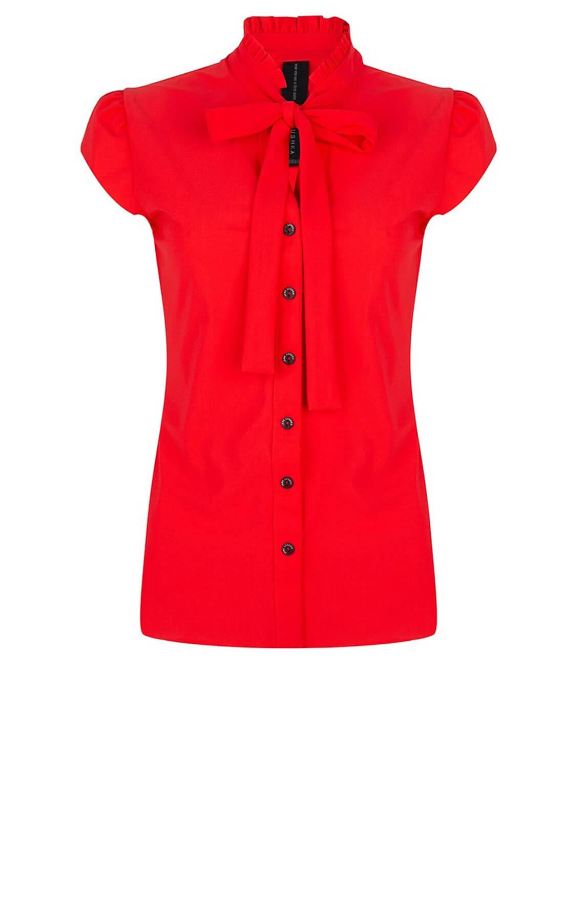 Jane Lushka Dames Tash blouse met strik Rood