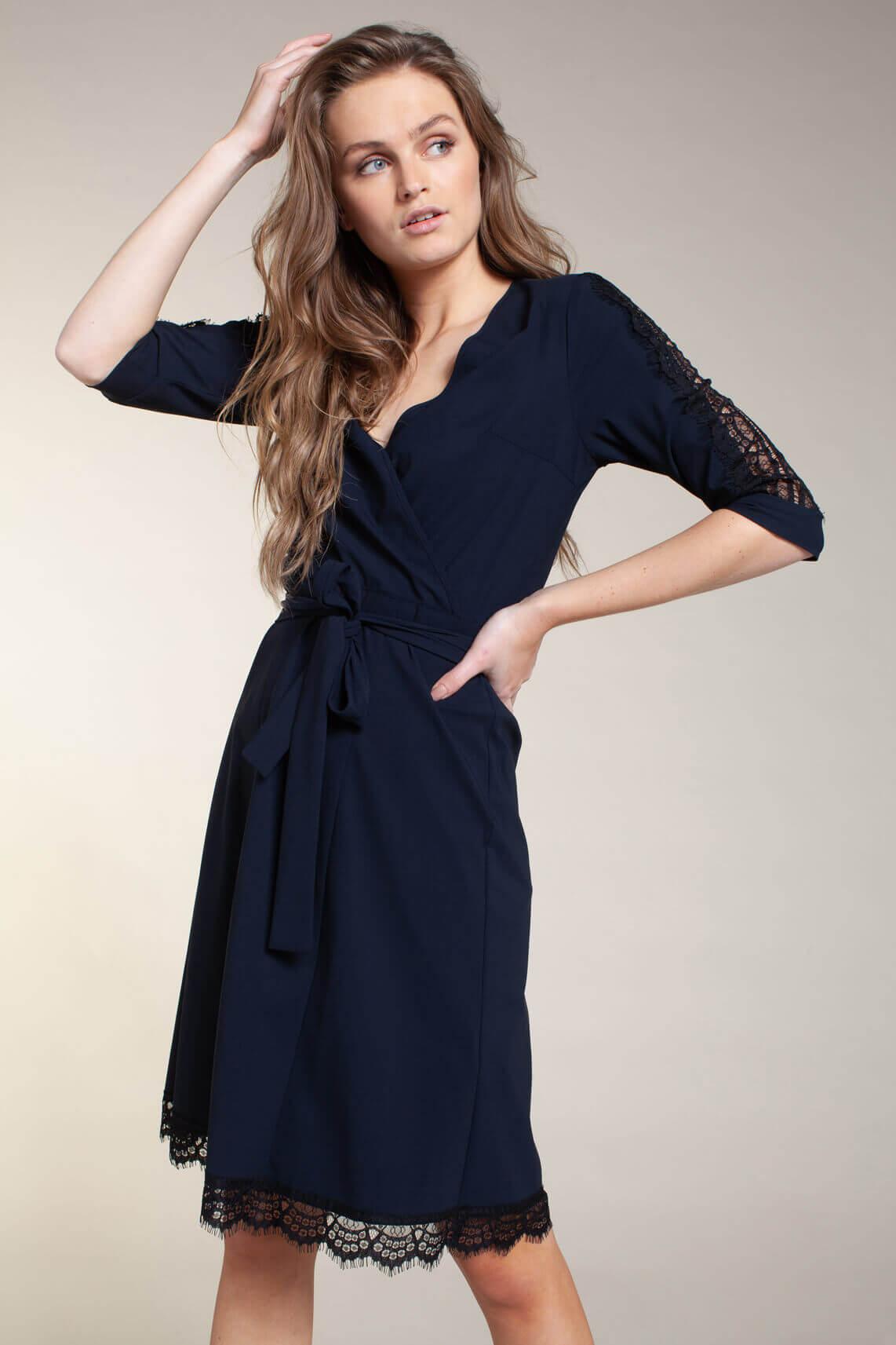 Jane Lushka Dames Staci wrap jurk Blauw