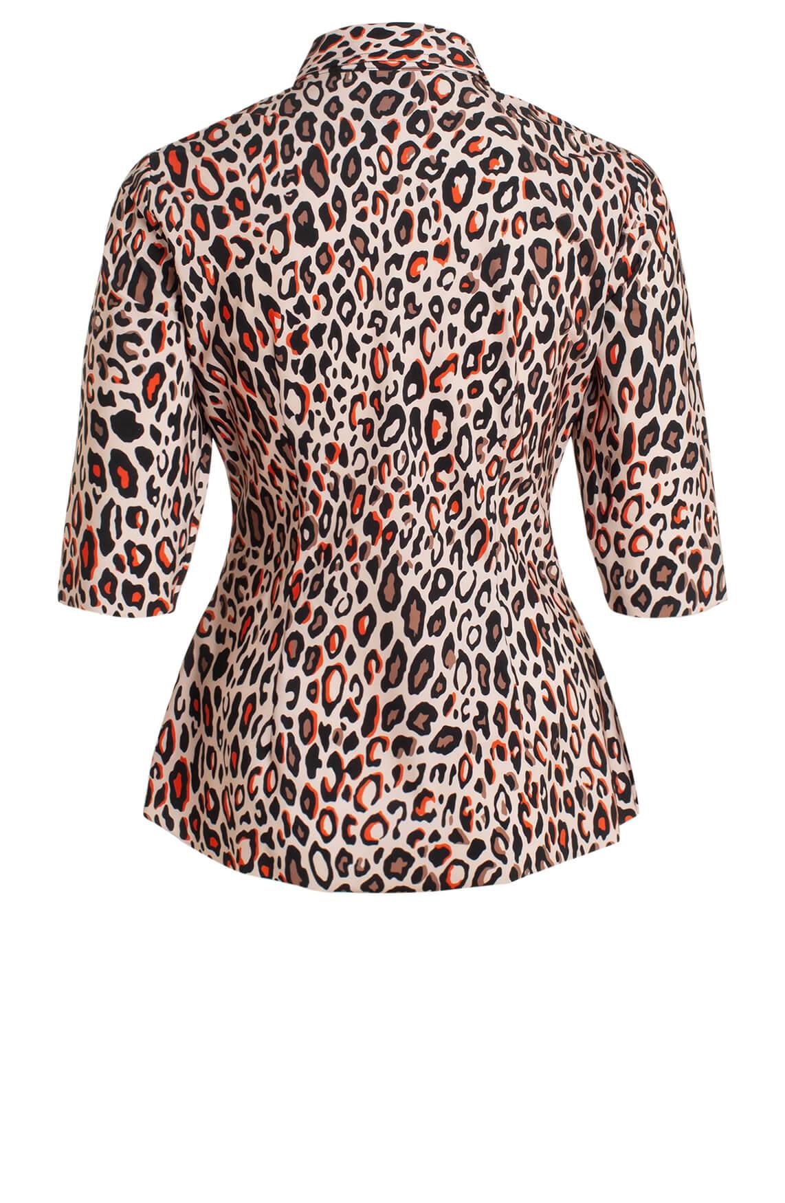 Jane Lushka Dames Animalprint blouse roze