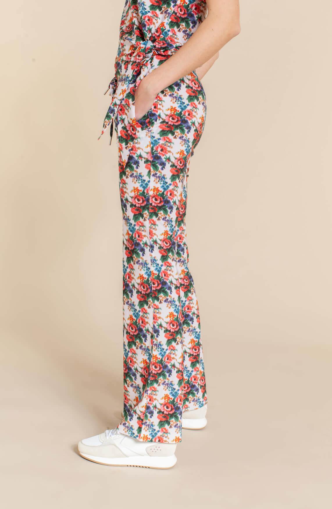 Jane Lushka Dames Izzy flower jogpant wit