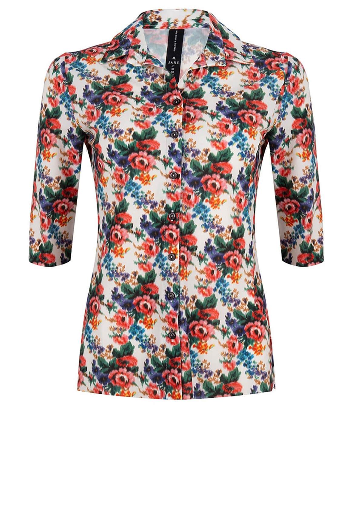 Jane Lushka Dames Debbie flower blouse wit