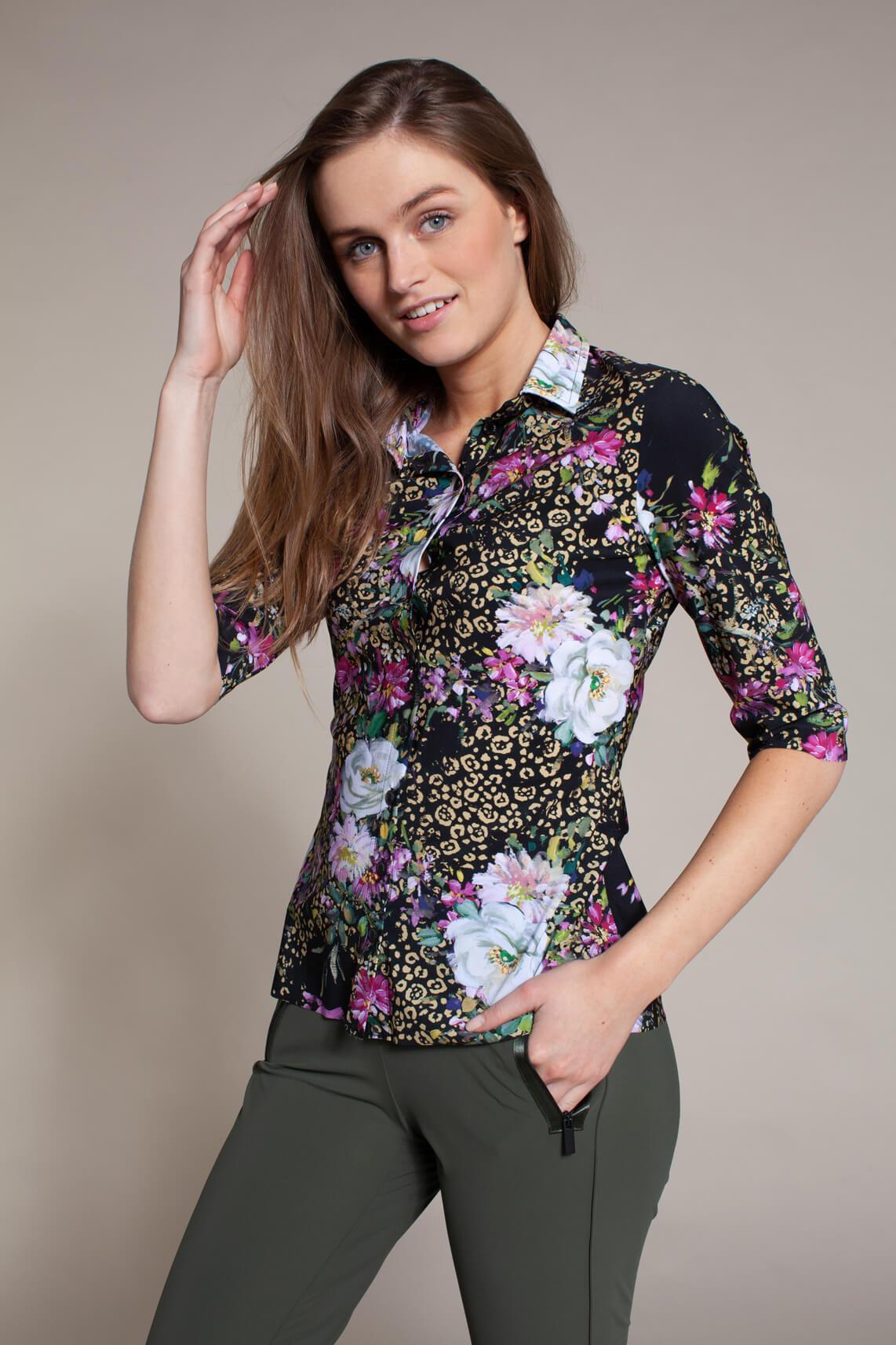 Jane Lushka Dames Travel blouse zwart