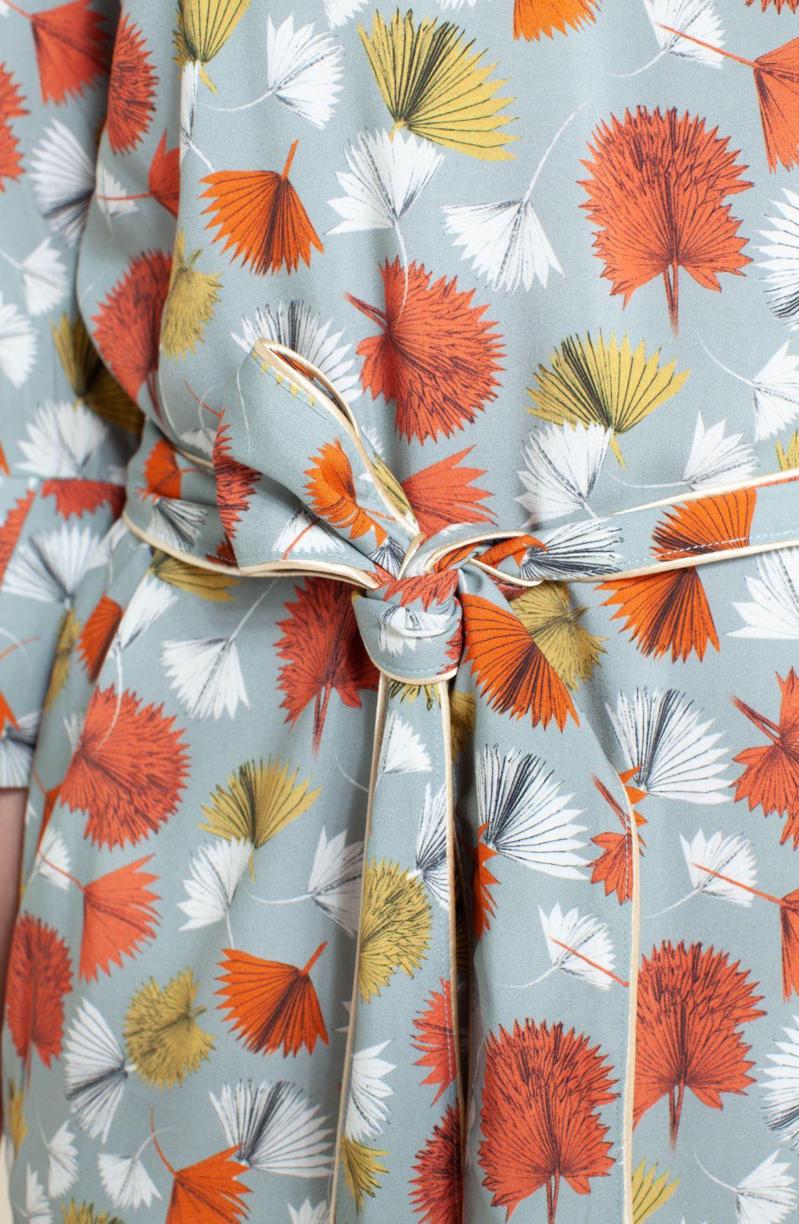 Anna Dames Jurk met floralprint groen
