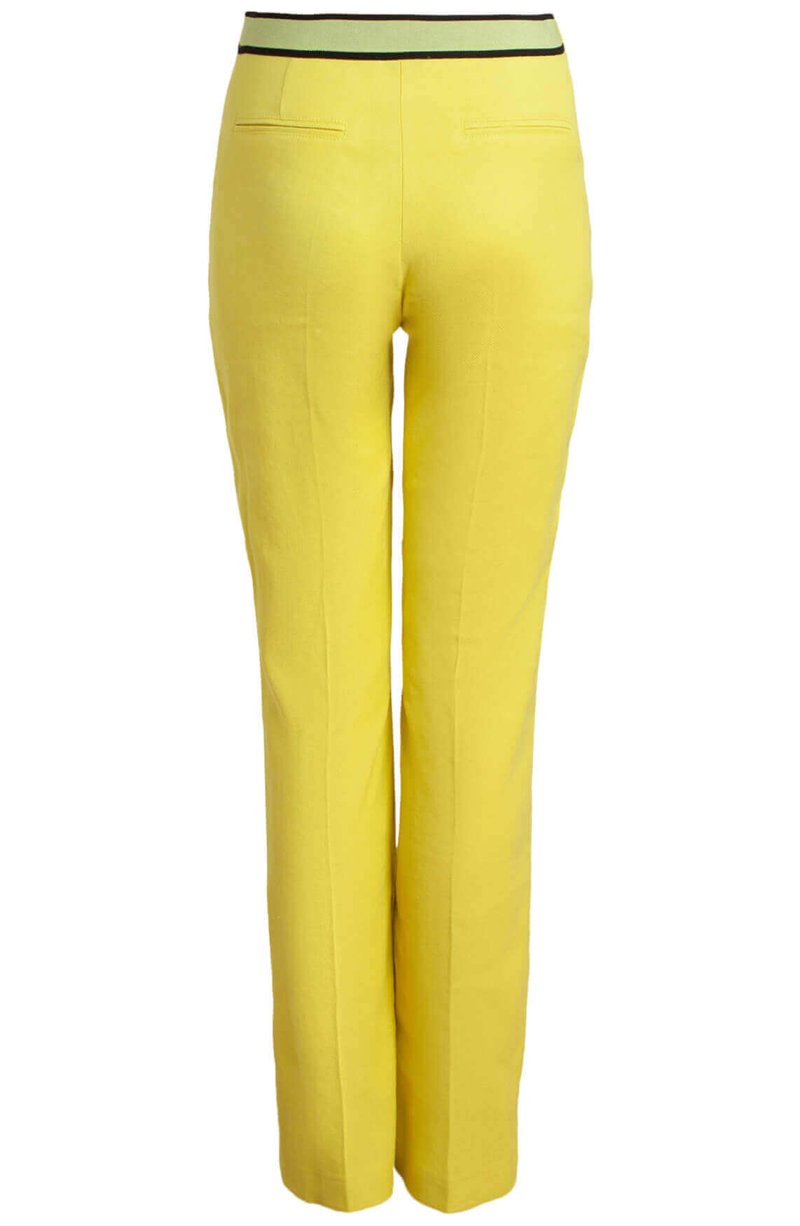 Anna Dames Pantalon met linnen geel