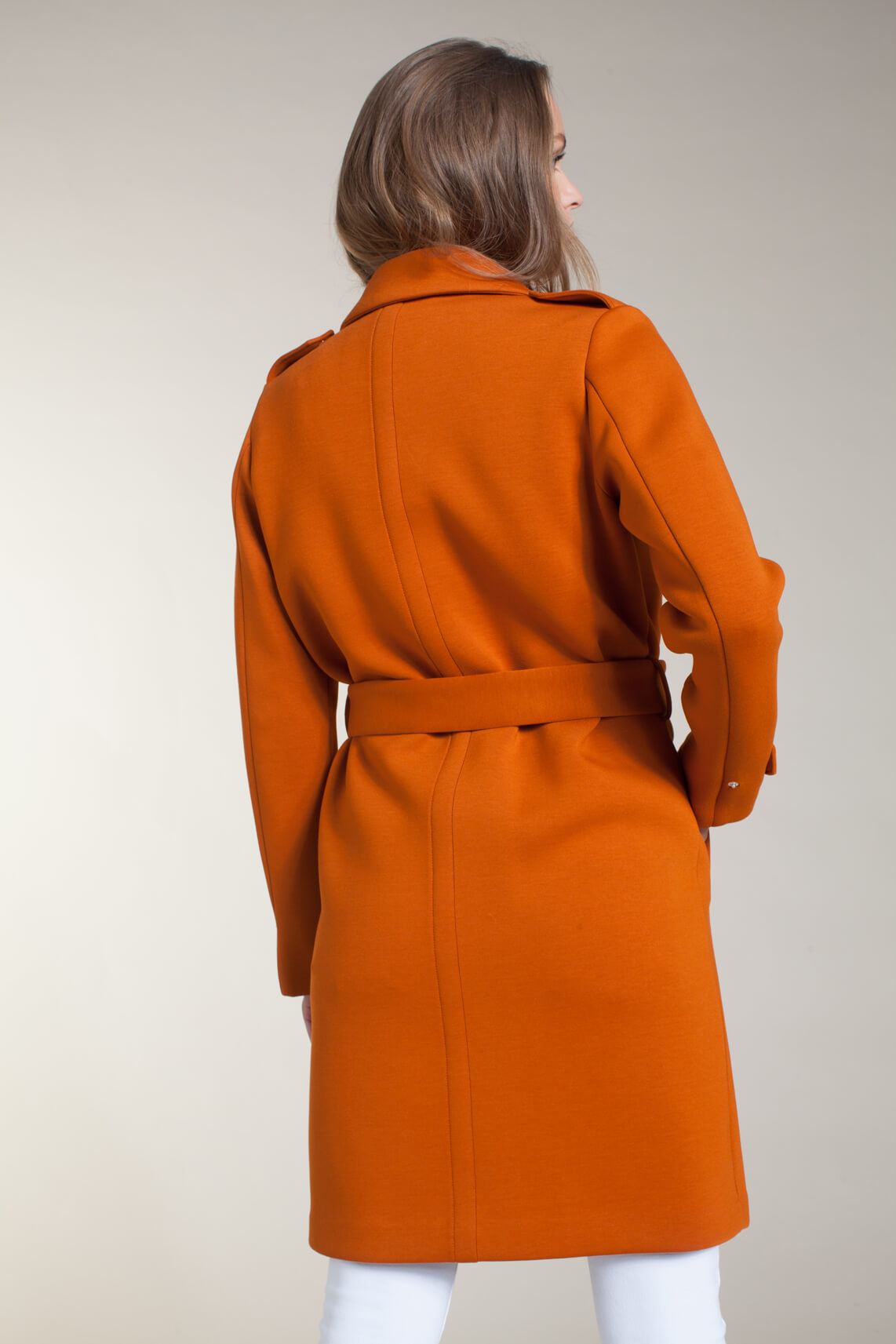 Giacomo Dames Halflange trenchcoat Oranje
