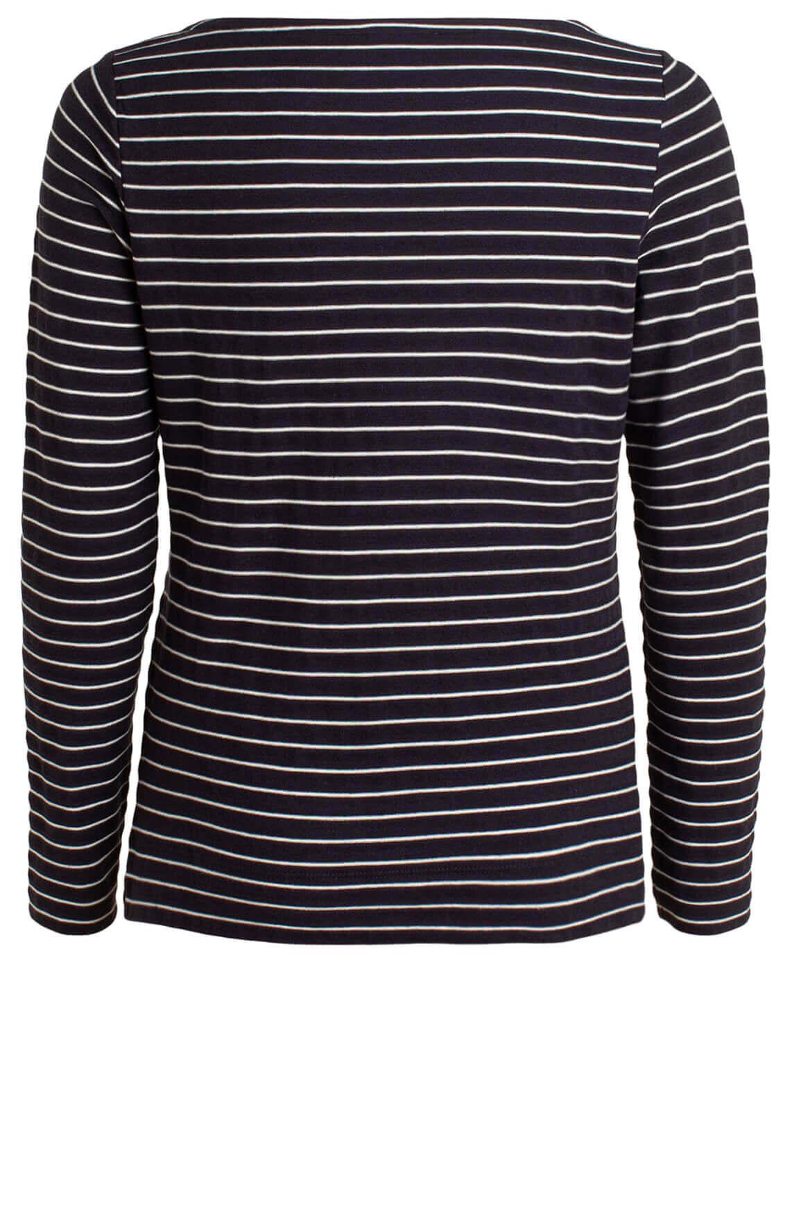 Marc O'Polo Dames Shirt met strepen Blauw