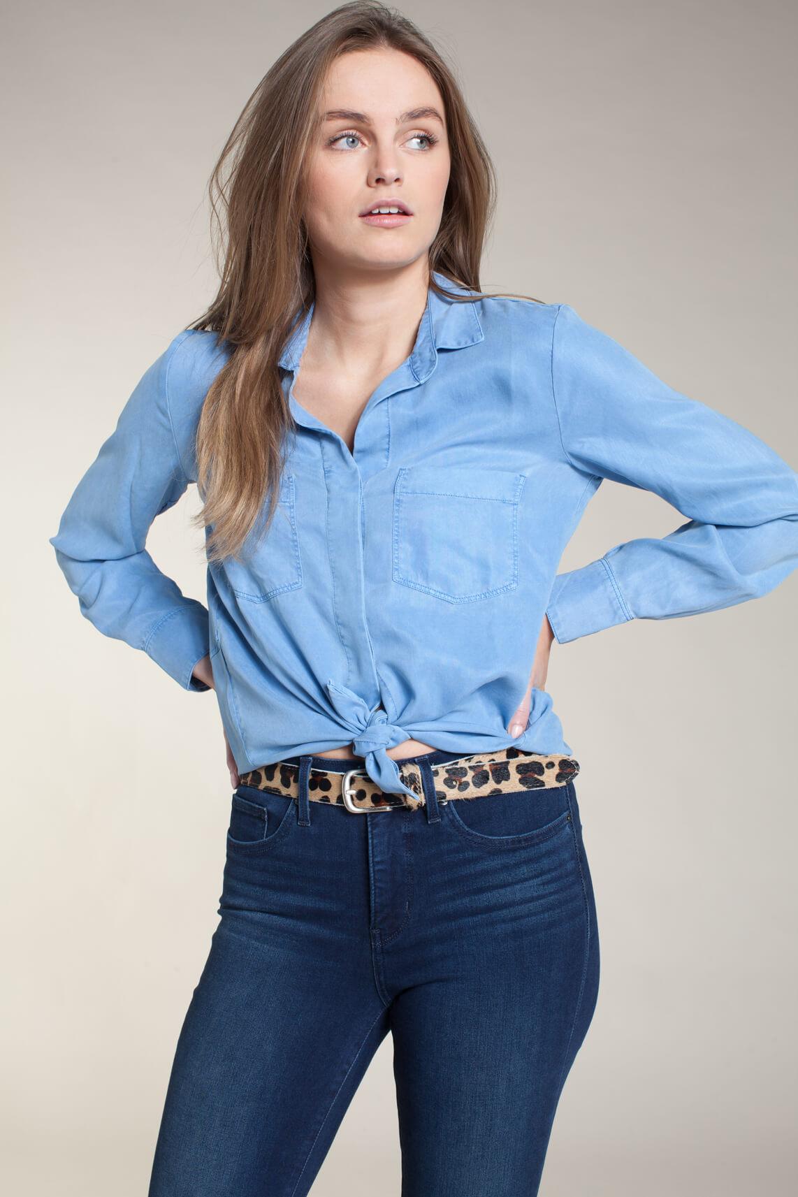 Marc O'Polo Dames Tencel blouse Blauw